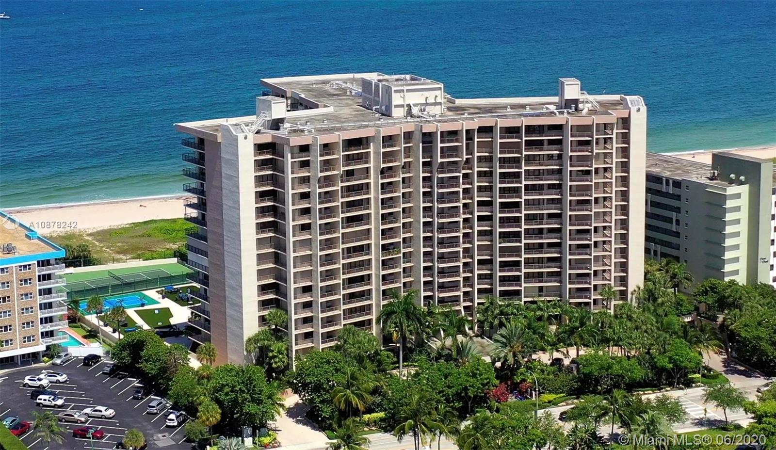 Positioned on the northern end of Lauderdale by the Sea is the exclusive Hampton Beach Club.  Unit 410 is a sprawling 3507 square foot direct oceanfront condo with many upmarket features today's homeowner demands. At every turn, you cannot help but notice the attention to detail. Custom woodwork, built-ins, & cabinetry are visible from one end to the other. All bedrooms feature en-suite bathrooms with walk-in showers & closets.  This magnificent property, sold fully furnished, is an ideal primary residence, second home, or rental property.  Hampton Beach Club features 24-hour security personnel in the main lobby. Ownership grants you access to an amenity package that makes your every day a vacation day. The oceanside pool, bocci, tennis, & pickleball courts are just a few of the amenities