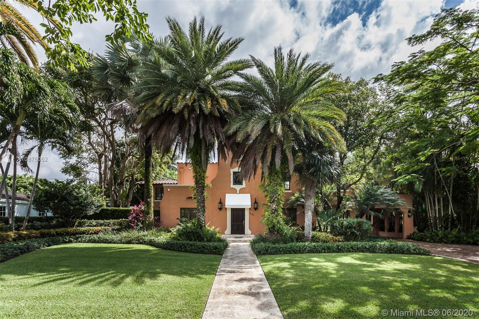 Situated on North Greenway Drive overlooking the Granada Golf Course, the 5-BD, 4.5-BA, 4,987 SqFt historic home is of unparalleled provenance and available for the first time in 43 years. United aesthetically with the look and historical significance of the City of Coral Gables, this landmark home was the 8th home built in the city. The two-story residence and 2BD/2BA guesthouse were completely renovated in 2005 with all the necessary enhancements, while preserving original architecture and charm. The renovation included all new plumbing, electrical, roof, impact windows/doors, chef's kitchen, HVAC system, flooring, and pool equipment. Several rooms in the home serve as entertainment areas, with ample space to display art and plenty of indoor/outdoor dining to accommodate up to 24 guests.