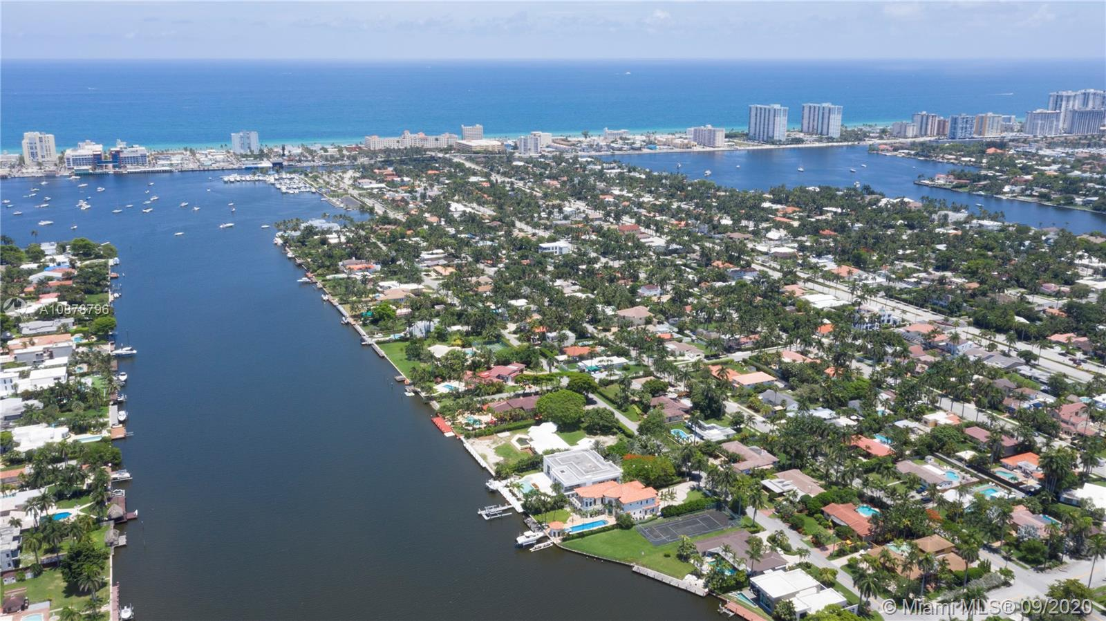 Impressive 32,508 Sqf Lot, a unique oversize waterfront in Hollywood Lakes.  2019 New Seawall and 80 ft. dock built to the highest & most current standards. Boater's paradise with direct access to Intracoastal and Atlantic Ocean no fixed bridges. Huge front and back yard perfect for designing per your lifestyle desire. Enjoy the richness of the new SLS Golf Resort (formerly Diplomat) which is going through a $220 million renovation and course redesign by Greg Norman. Make your dream home a reality. Just steps away from the full service Hollywood Boating Marina. Price is for land value. HOLLYWOOD HAS IT ALL!!