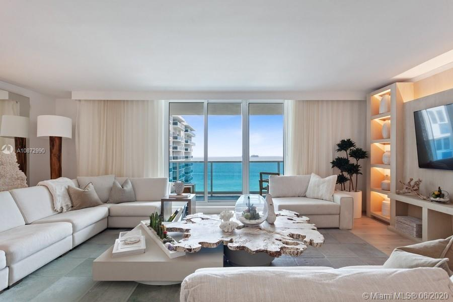 The best of both worlds, a hotel living lifestyle in your private residence with stunning ocean views from every room! This unique turn key 3 bed/3 bath+den features white oak flooring and custom built ins with gorgeous ocean views.  Beautifully designed bright condo with contemporary kitchen, with Wolf & Subzero appliances throughout. . One of Miami's best hotels, One Hotel and Homes features a rooftop pool, restaurants, bars & sand filled lounges. Private residential lobby, concierge & chauffeured Tesla for all owners. Located directly on the ocean and centered in the heart of South Beach. Steps from Miami Beach's best restaurants, cultural centers and retail boutiques. Enjoy 600 linear FT of beachfront, 4 pools, 14,000 SF fitness center and Bamford Spa.