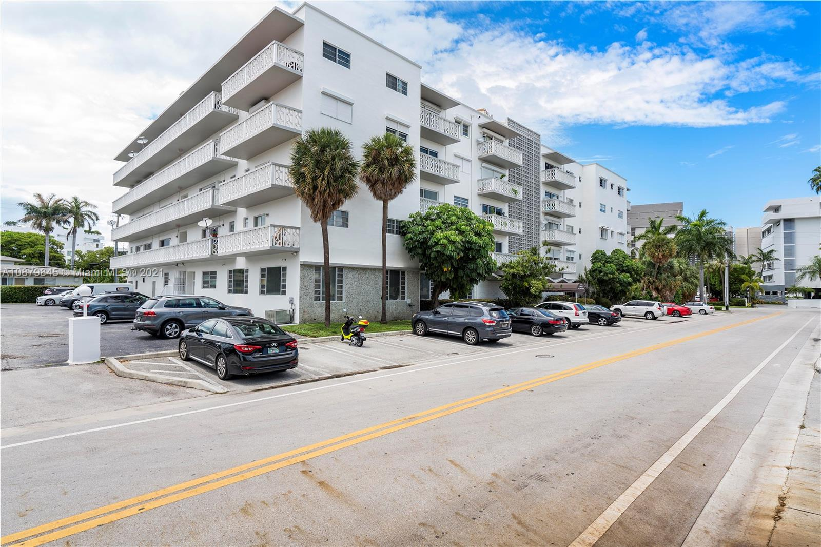 GREAT LOCATION!! Large 1 bedroom unit with 1 ½ bathrooms.  Entirely updated with stainless steel appliances and other upgrades.  Large balcony faces north with nice garden views with minimal obstructions. Lots of closet space. Building is very well maintained and quiet, has a pool and an updated lobby. Laundry in building on 1st floor. Secured building, features beautiful and expansive lobby areas. Steps to the school, shops, restaurants, the beach and houses of worship.One assigned parking space as well as plenty of street parking directly across the street.  INVESTORS ARE WELCOME - Unit can be rented right away. According to the building rules, only two people can live in this unit. No pets allowed in the building. VERY LOW HOA ONLY $352 PER MONTH.