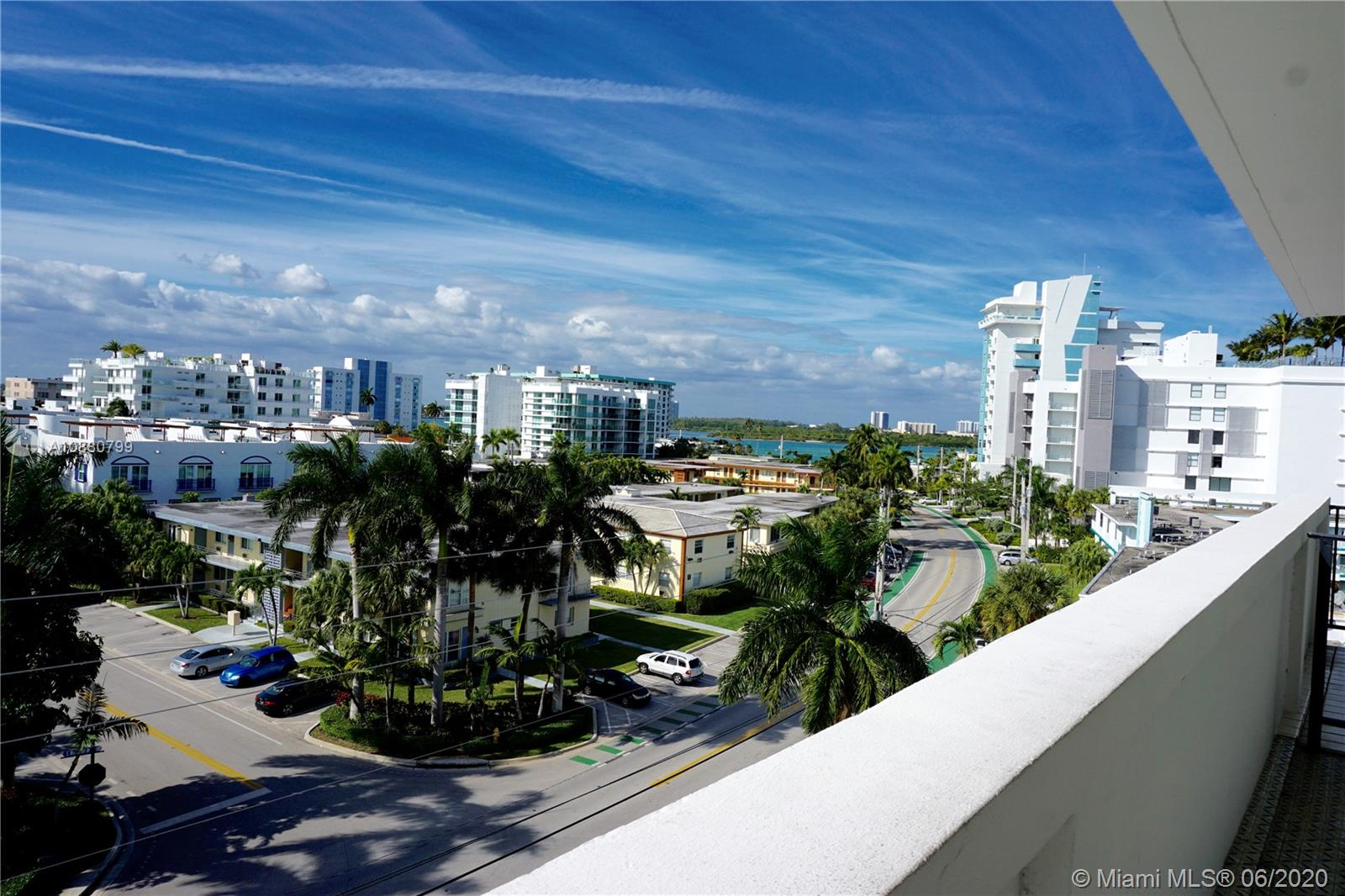 Quaint & Spacious Condo in Bay Harbor Islands -- MUST SEE!!! 1 Bedroom / 1.5 Baths.. ALL Impact Windows and Sliding doors.. Large Balcony .. Pictures of unit are limited due to privacy reasons.. Large Living, Dining, and Bedroom.. Enough space to create an open kitchen.. Stainless steel appliances.. corner views of bay.. guard at lobby.. enjoy the pool with bay view just feet away!!! Each floor has a laundry room! Great as a vacation home or primary residence! Rented at $1,800/mo.