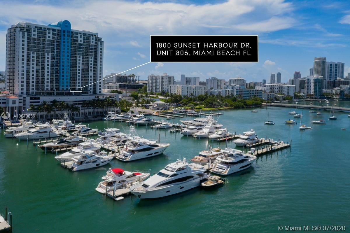 1800  Sunset Harbour Dr #806 For Sale A10879856, FL