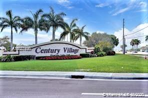 Want to live in a resort styled community?  Then, you must see this well kept unit in beautiful Century Village.  It is a Jasmine Model with 2 large bedrooms and two full baths in great condition.   The floor plan is opened and spacious with a screened-in balcony that contains storage space.  This community offers a number of amenities; i.e., clubhouse with a tennis club, golf club, water aerobics, restaurant, theater, billards, health club, and much much more!!!  It is priced right; so, don't delay, call today!!!