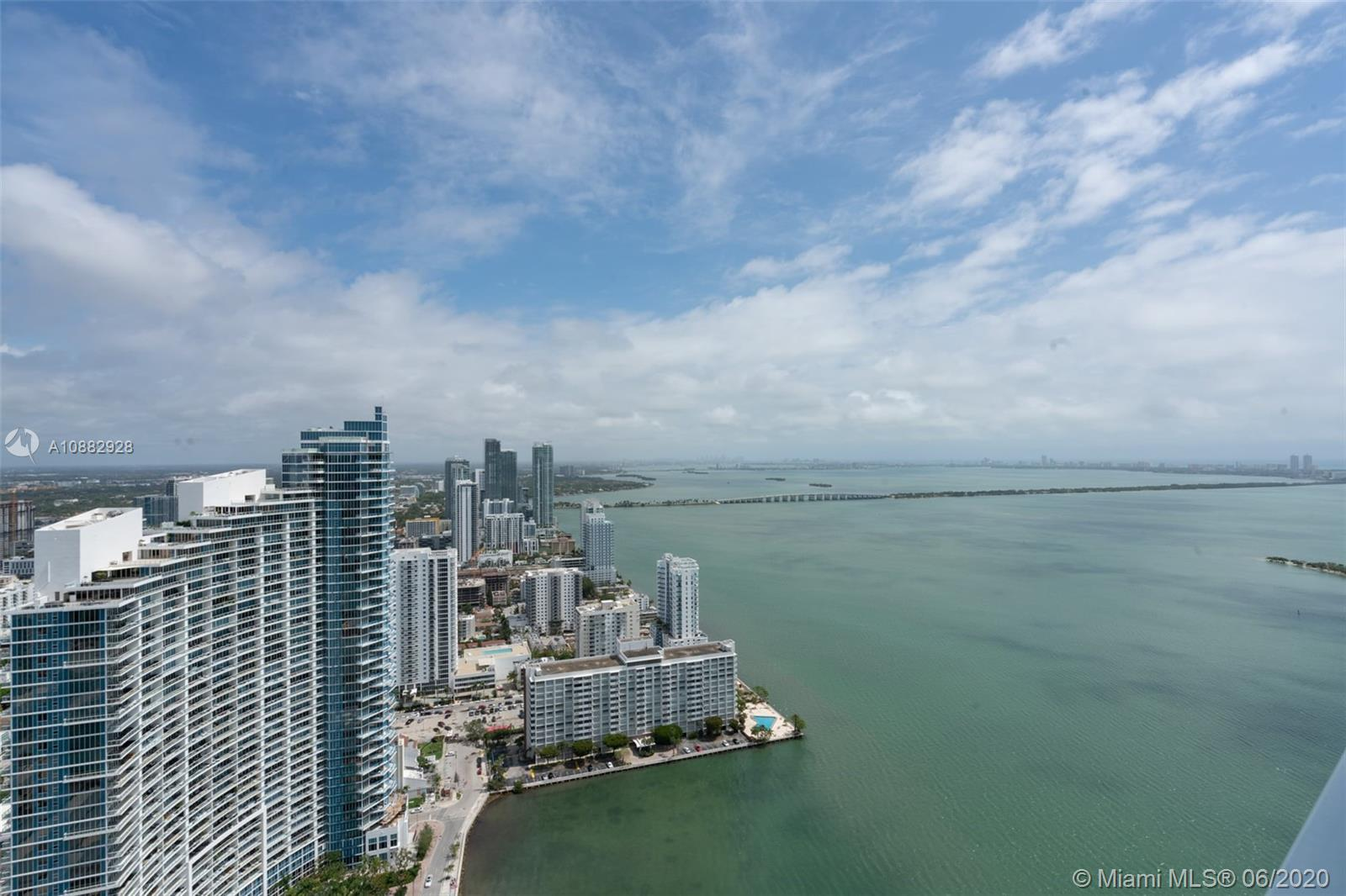 STUNNING 3 BED, 2.5 BATH, 49TH FLOOR PENTHOUSE WITH AMAZING OCEAN, BAY & SUNSET VIEWS LOCATED IN THE HEART OF EDGEWATER MIAMI, DIRECTLY ACROSS THE STREET FROM MARGARET PACE PARK & BISCAYNE BAY! CONTEMPORARY HIGH-END FURNISHINGS WITH CUSTOM FEATURES & FIXTURES THROUGHOUT INCLUDE: MARBLE FLOORS, CUSTOM DESIGNED JACUZZI TUB & STANDING SHOWER IN MASTER BATH, ELECTRIC BLACKOUT SHADES IN MASTER, BUILT-IN WINE COOLER, STAINLESS STEEL APPLIANCES, AND CUSTOM CLOSETS IN EVERY ROOM! UNIT ALSO INCLUDES 2 DEEDED PARKING SPACES LOCATED ON 3RD FLOOR OF GARAGE! A DEFINITE MUST SEE!