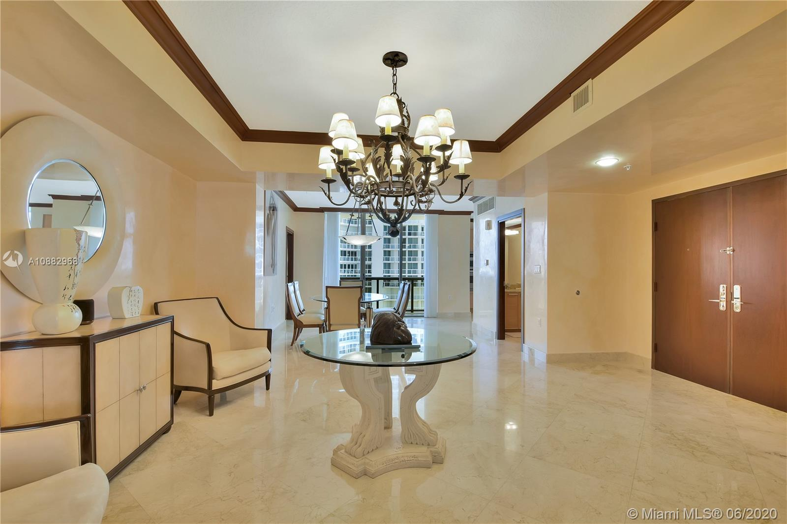 Gorgeously finished and decorated large 2 bedroom 2.5 bath oceanfront condo with a private elevator. Unit is second from the ocean, flows through north/south with balcony on each side. Sold fully furnished, just bring your toothbrush and enjoy this spectacular residence and views! Boutique luxury building with only 92 residences with 24/7 front desk security and valet parking. Sauna and steam room, gym with state of the art equipment. Private beach and jacuzzi. Unit is rented tenant has 60 days kick-out clause.