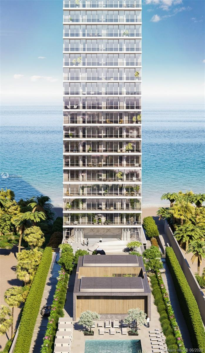 Luxury boutique property, with only 64 oceanfront residences located just North of Golden Beach. This contemporary 38 story glass tower showcases panoramic views of the Atlantic Ocean, Intracoastal Waterway. This half floor residence offers 180 degrees of Ocean, Intracoastal and city views. Every room has an incredible view in this 3 bed, 3.5 bath plus den unit with expansive terraces. Private elevator landings with facial recognition. Full amenity property with impeccable details by Minotti. There is truly nothing like it. Delivered by May 2021 Move-in Ready.
