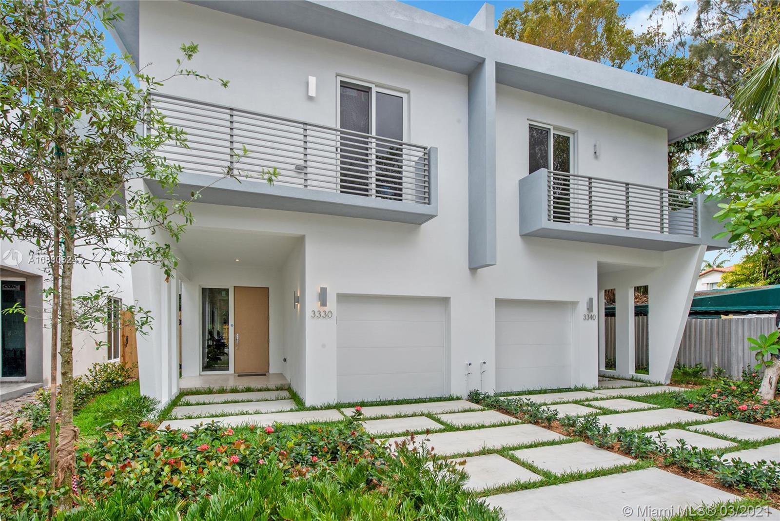 Nestled between Coconut Grove and Coral Gables, these 3 bed / 2.5bath homes are less than a mile away (6 min drive) from Miracle Mile, Downtown Coral Gables, The Shops at Merrick Park, and a plethora of parks in Coconut Grove, among plenty of other points of interest. Every space within its 2,050 sq.ft of living area is utilized to its fullest potential. Impact windows & high ceilings throughout. The Master Bedroom has 2 walk-in closets, and a private balcony. Top of the line finishes blend impeccably. Currently under construction, estimated completion in Fall 2020.