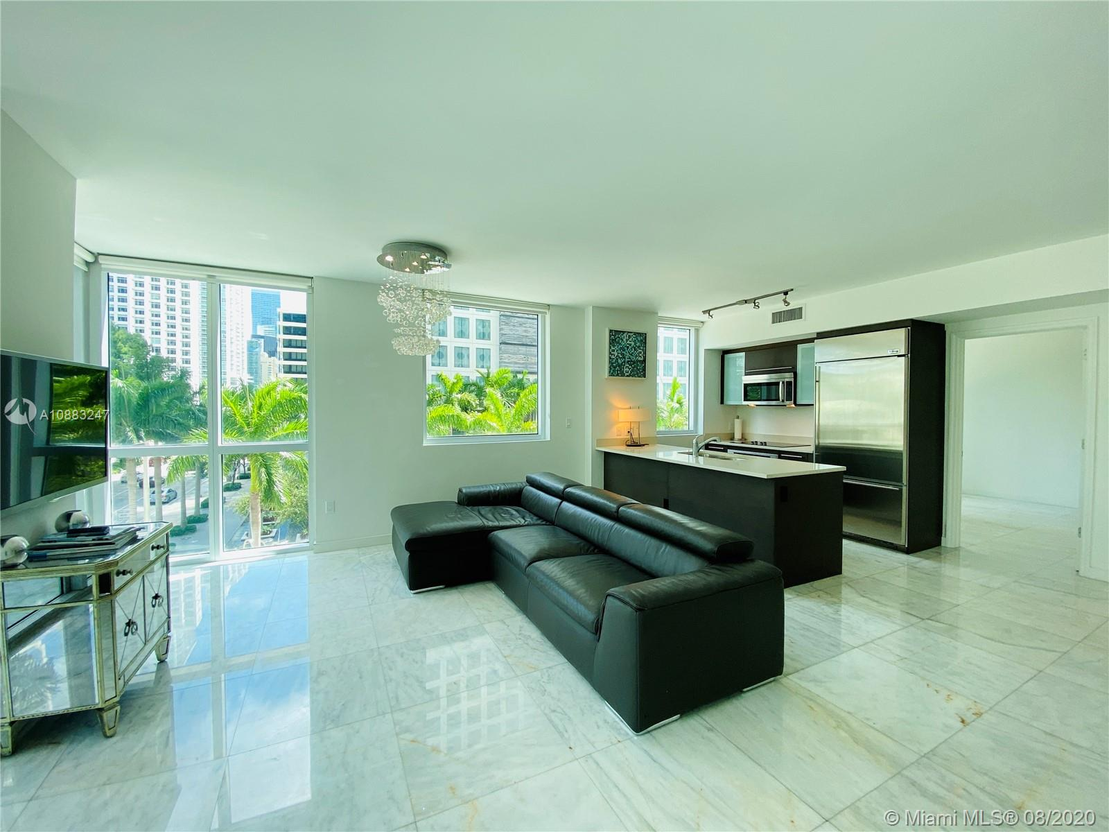 MOVE IN JUST WITH: 1ST MONTH RENT & 1 SEC. DEPOSIT! GORGEOUS 2BR/2BA SPACIOUS CORNER UNIT IN THE HEART OF BRICKELL AVE. EUROPEAN OPEN STYLE KITCHEN, TOP OF THE LINE APPLIANCES. OPEN & SPACIOUS FLOORPLAN, MARBLE FLOORS THROUGHOUT. PARKING ON SAME FLOOR. ENJOY THE UNIQUE AMENITIES: 3 SPECTACULAR POOLS, AND A 42nd FLOOR WITH PANORAMIC VIEW POOL. STATE OF THE ART FITNESS CENTER, WINE CELLAR ROOM, SPORT BAR ROOM, UNIQUE THEATER, WALKING DISTANCE OF MARY BRICKELL VILLAGE AND AL THE FINANCIAL DISTRICT & RESTAURANTS. BASIC CABLE & INTERNET INCLUDED.