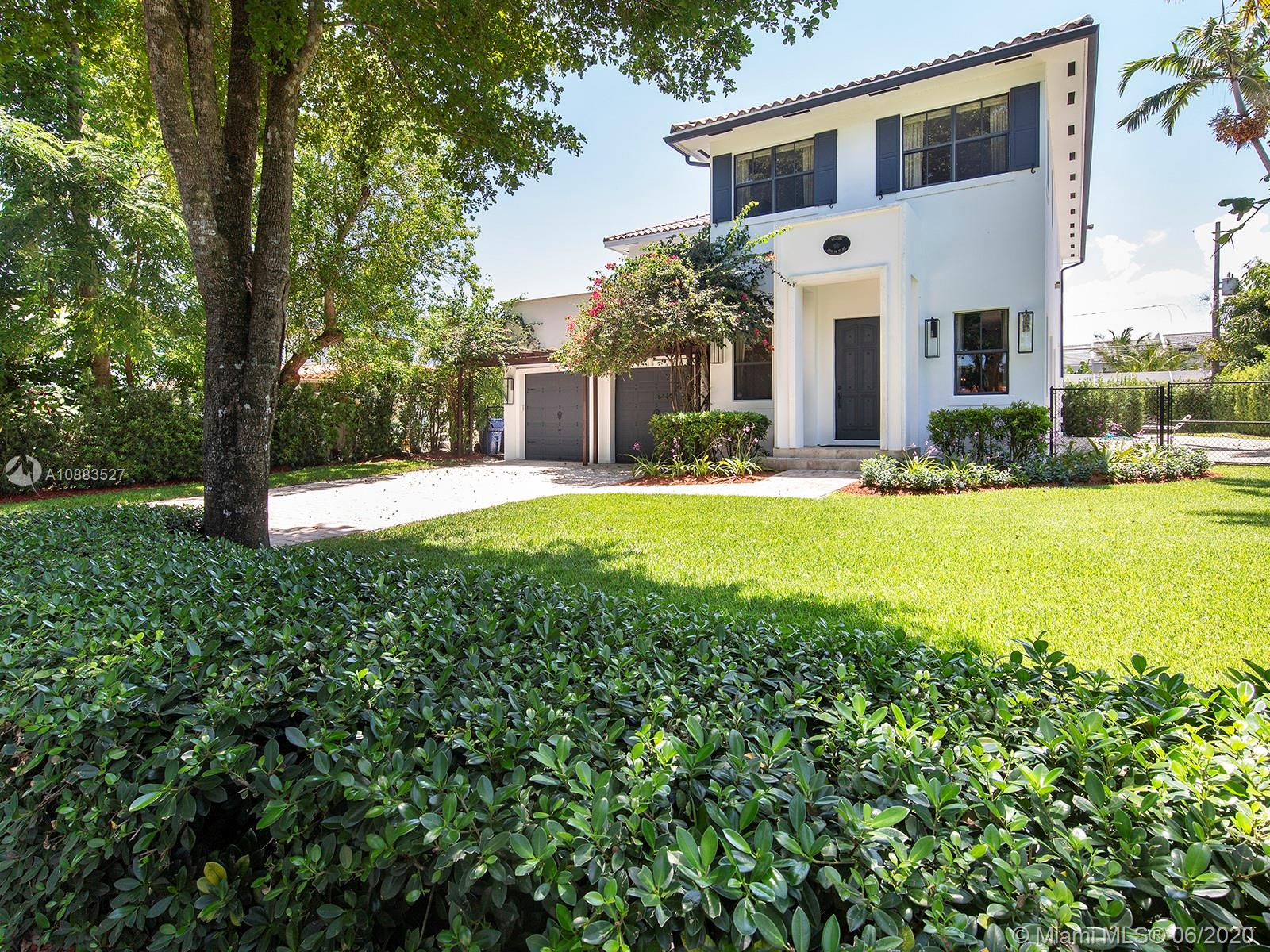 Buyers are flocking to the rapidly appreciating neighborhood of High Pines because of it's village like feel and location near South Miami's excellent schools, shopping, dining and parks.   Situated within the Sunset Elementary school district, one of the top schools in Miami and within minutes of the top private schools like Ransom, Carrolton and Gulliver.  This property checks all the boxes when it comes to purchasing real estate starting with the first and foremost... Location!   The home has undergone renovation since it's construction in 2007. The first floor opens to a large formal living room with 11 ft ceilings throughout and includes designed mill work, textured walls, and  a large guest room.  The second floor  offers a functional landing area and a very large master suite.