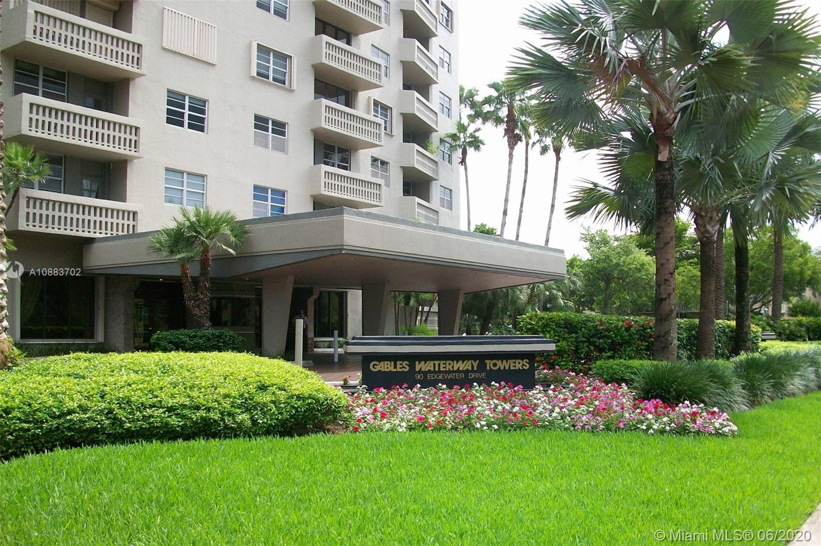 Gables Waterway Towers is a luxury doorman building situated just south of Coconut Grove on the Bay. The building was just completely renovated, and has a heated pool, Boat slips, Gym, Media Room & Game Room. The complex is professionally managed with the manager's office on site, and open Monday-Friday from 9:00- 5:00 Pm. The building has a 24 hr. concierge with 2 valet and security guards 24/7. Also on staff are 2 maintenance men and a 4 man janitorial staff. Features a central laundry room on each floor and is currently deciding if individual units can soon have a washer- Dryer. It's Like living in at a resort, all year long!