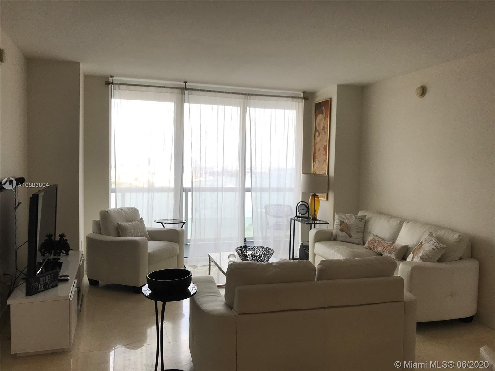 Beautifully FURNISHED 2BR+Den, 2Bath 1,322 SF apartment at 50 Biscayne w/direct EAST facing views & floor-to-ceiling windows from every room. Unit features spacious a split floor-plan, large bedrooms both w/ensuite & walk-in closets; open concept kitchen, living/dining rooms. Amenities include: 24-hour concierge, security & valet parking, infinity-edge pool & poolside cabanas, hot tub, formal & informal clubrooms with kitchen, billiards table, wet bar & media center, state-of-the-art fitness center, yoga/pilates room, sauna & steam rooms. Walking distance to Shops at Bayside, AAArena, lots of restaurants, Arsht Center, Whole Foods & Brickell. By car, 50 Biscayne is just 10 minutes from South Beach, 15 minutes from Wynwood Miami, and 20 minutes from the Miami International Airport.