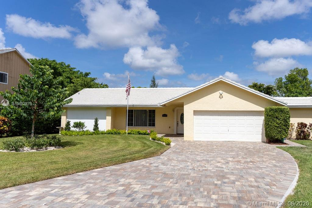 This 3bd / 2ba home w/a pool sits on a beautiful & spacious lot in the heart of Coral Springs. The elongated driveway allows ample parking. Enter into a fully tiled home with plenty of natural light & a convenient split floor plan. The newly remodeled kitchen has SS appliances, a window view to the pool & the lg backyard. The living room area overlooks into the formal dining room. A separate laundry/utility room & a true two-car garage. Pool pump was replaced 1yr ago. Property has a tool shed room divided by a firewall.Conveniently located just minutes from Sawgrass EXPWY, shopping, dining, & Rec districts. NO HOA. * Buyers agent must accompany potential buyers * Facemasks are required throughout the duration of the showing. Temperature will be taken prior to showing.  NO TEXTING PLS.