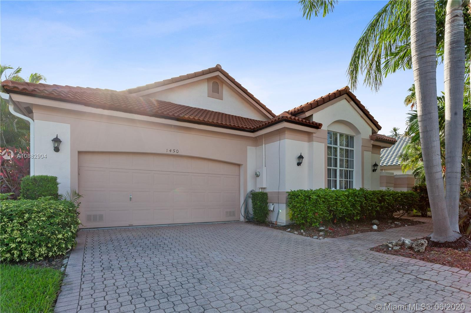 Come experience the Grand Palms Golf Resort lifestyle. The community is top notch and it offers a gated entry, manned by 24 hr security guard, beautiful palm lined streets, jogging and biking paths, green spaces, children playground, lush landscaping and HOA office on site. This home offers 3 large bedrooms and 2.5 bathrooms with a wide open floor plan and a vaulted grand room full of natural light. Beautifully designed kitchen and tile throughout the entire house.  The exterior is complemented with a screened patio and is surrounded by lush landscaping. ROOF is 2 years NEW! HOA includes basic cable, alarm, lawn/landscaping, exterior painting every 5 years and presure cleaning. A+ schools, Whole Foods, Costco, Starbucks right outside community along w/ shopping and restaurants.