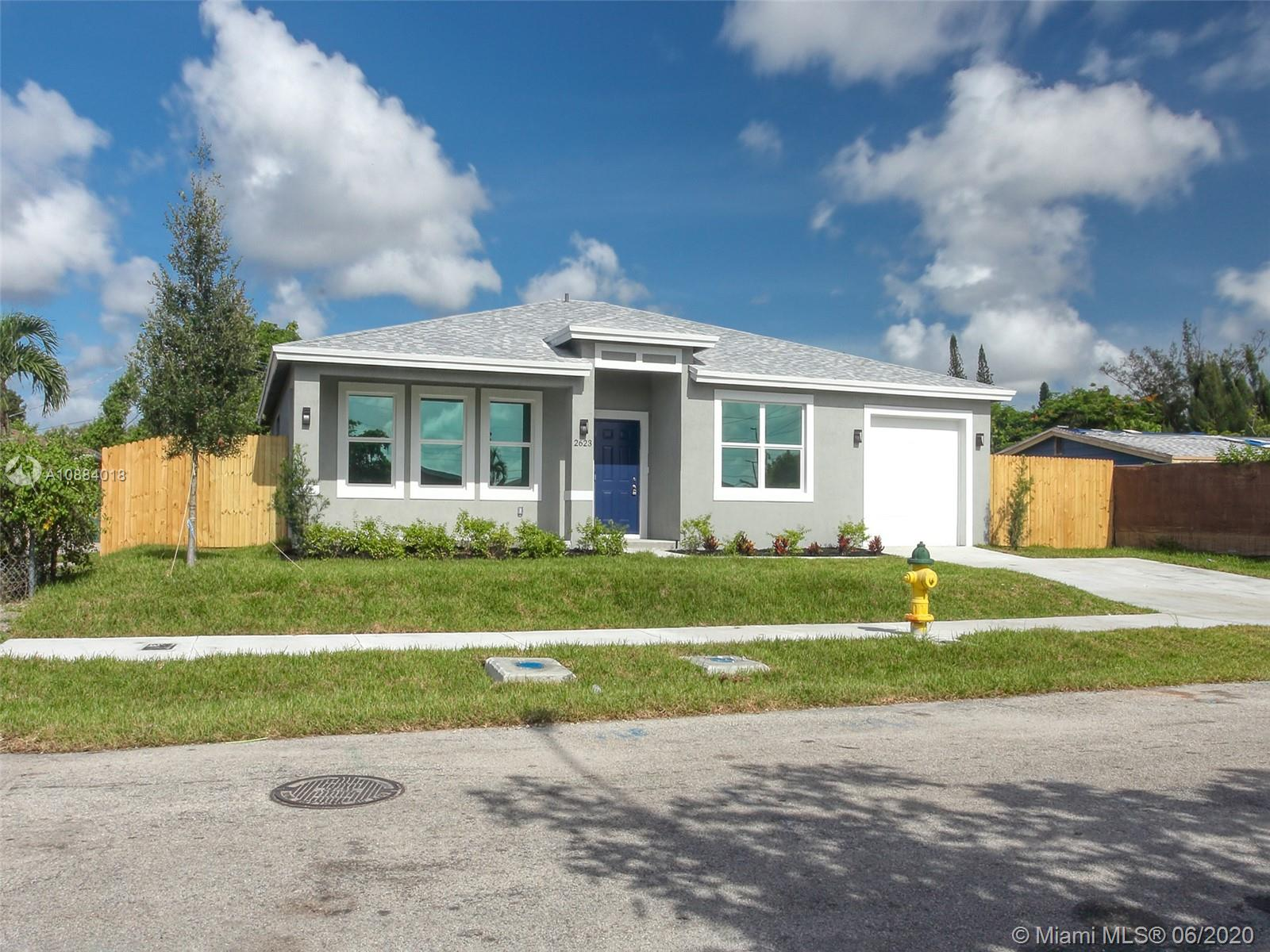 New construction 3 bed 2 bath 1 car garage dream home on a large lot on a quiet street in Oakland Park.   Modern white kitchen with black granite countertops, tile throughout.  Large master with  walk in shower and large walk in closet.  Features include hurricane impact glass windows and doors, tankless water heater, energy efficient air conditioner, and all stainless steel kitchen appliances.  Washer and dryer included.  Large lot with wood fence, room for a pool.  No association, no fees.  Includes 1 year builders warranty.