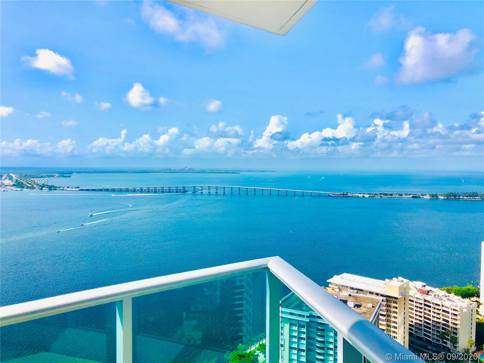 PRICE REDUCED. This is the lowest price in the building for a 4-bedrooms. Be the new owner of this great unit at the prestigious Jade Residence at Brickell with 4-bedrooms & 4.5 baths. South-east corner with spectacular direct water views and city views.  