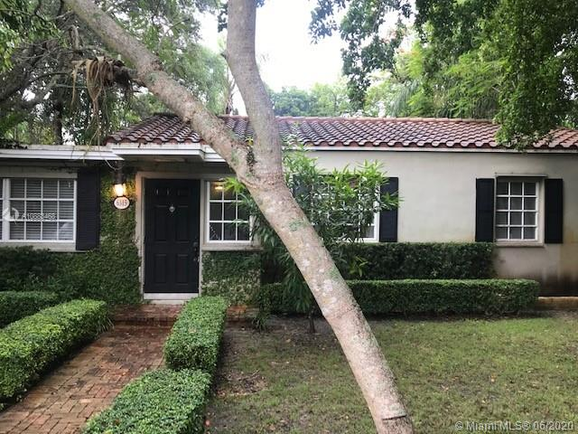 """Very charming cottage home in South Miami home with a white picket fence. 3 bedroom and 1 bathroom with remodeled kitchen with Kitchen-aide appliances and traventine bathroom. The bedrooms are """"Split Plan"""". There is an intimate Den/Office and large laundry room inside the house. The home is oozing with personality and overlooks a large lush tropical backyard that it's ideal for social gatherings. Located on a quiet street and in the David Fairchild school district. The house comes with a full size shed and a custom made Argentinian Grill. More pictures will come soon.The house is minutes away from Miami Children's hospital, South Miami Hospital,  Doctors Hospital, Downtown Coral Gables, Downtown South Miami, and University of Miami."""