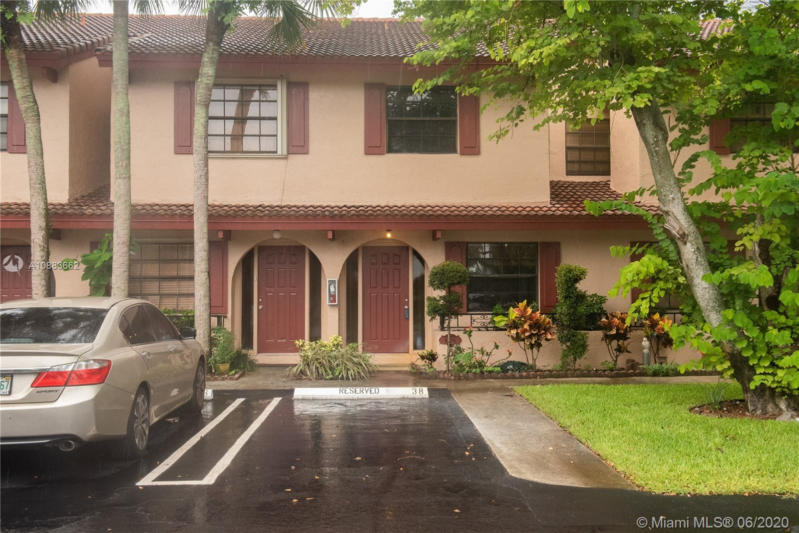 STUNNING 3 BED - 2 1/2 BATH TOWNHOME IN WEST CORAL SPRINGS!! THIS RARELY AVAILABLE COMMUNITY AND HOME IS THE TRUE DEFINITION OF BEING CENTRALLY LOCATED. SCHOOLS, SHOPPING, ENTERTAINMENT, RESTAURANTS AND MAJOR HIGHWAYS ARE RIGHT AROUND THE CORNER. UPDATED KITCHEN, FLOORING, BATHROOMS AND WATER HEATER MAKES THIS PROPERTY MOVE-IN READY. THIS QUIET AND SMALL COMMUNITY OFFERS YOU PRIVACY AND PEACE. THE LOW MONTHLY FEE COVERS EXTERIOR INSURANCE, ROOF INSURANCE, WATER, LAWN CARE/OUTSIDE MAINTENANCE AND COMMUNITY POOL. THIS PROPERTY ONLY NEEDS ONE THING....THE RIGHT FAMILY TO CALL IT HOME!