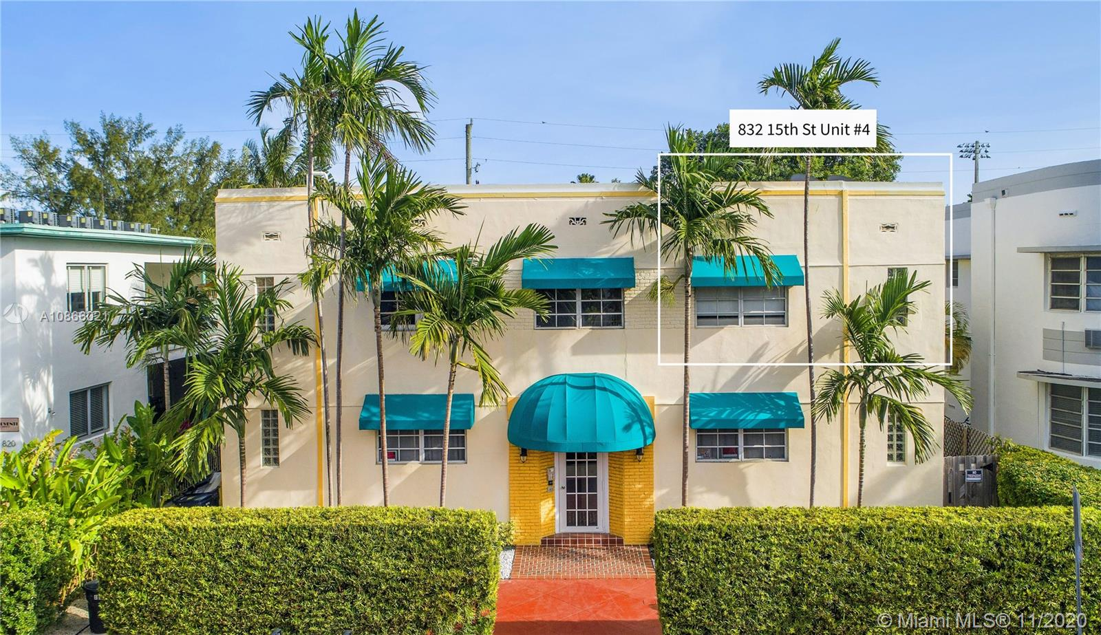 832  15 St #4 For Sale A10866021, FL