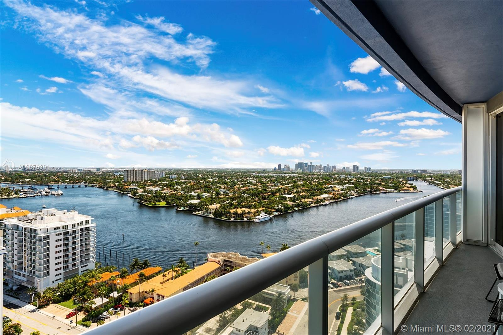 Spectacular, most desirable 1 bedroom/1 bathroom condo on the 23rd floor! Breathtaking South views of both the picturesque ocean and intracoastal as well as the downtown Fort Lauderdale skyline.  From sunrise to sunset, your views are one-of-a-kind!  Fully furnished with a king bed and sofa bed, electronics, kitchenware and linens. 825 sq. ft. open layout. Owners closet and washer/dryer in the unit.  Live in the unit or rent it out!  No Rental Restrictions! Short term rentals ok with either the Hotel Program or an independent property manager. Great income producing property. W Hotel Resort Amenities include 2 pools (East and West), Away Spa, Fitness Center, Living Room Bar as well as dining at the Sushi Bar, Steak954, El Vez, and SoBe Vegan.  Unit won't last!