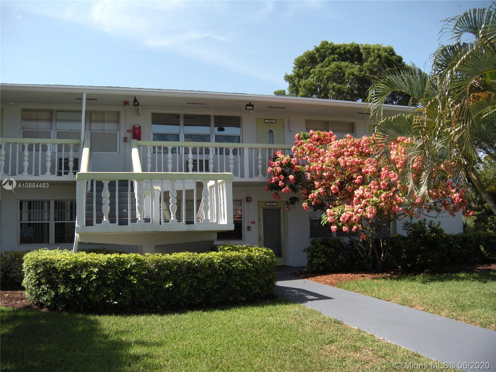 Updated 1br/1bth second floor condo in great condition with garden and water views from the glass enclosed patio overlooking the canal. Features include new kitchen cabinets w/stainless steel appliances, updated bath, tile throughout, large bedroom with mirrored closet doors, large storage closet in hallway, community laundry room, ceiling fans, in close proximity to pool and clubhouse and tons of security. Very active senior 55+ community with theater, pools, tennis courts, fitness center, free shuttle, security 24/7, billiards room, library, social events including live shows, dancing & yoga classes and more. Truly a resort style community for the elderly located minutes from beautiful Deerfield Beach and close to shopping, banks and casinos with free transportation with the shuttle.