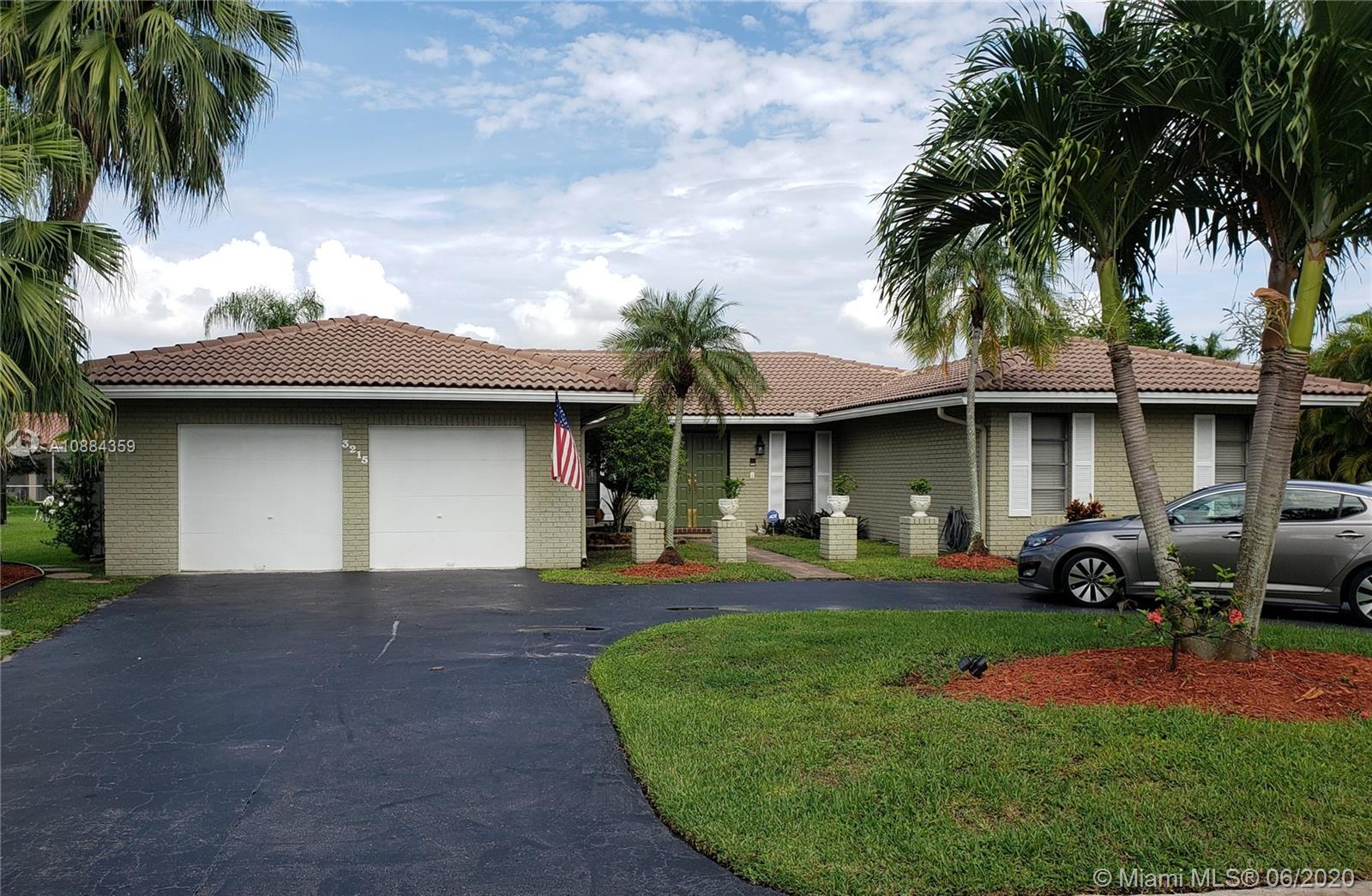 Welcome to this wonderful single story home where location meets convenience.  This property offers an open floor plan encompassing 3 bedrooms, an additional den/office/spare room, formal living room with 2 full bathrooms and an elegant styled half-bath off the main living area.  Immaculate finishes throughout, including a beautifully landscaped front yard, tile floors, contemporary master suite, & large living area.  Functional open kitchen offers stainless steel appliances and an island overlooking the family room. This home's layout is great for entertaining. Sliding glass doors open up to the entertainment area or formal living room overlooking the pool. The backyard is a private, tropical oasis with charming landscaping. Your dream home awaits - call today to make an appointment.