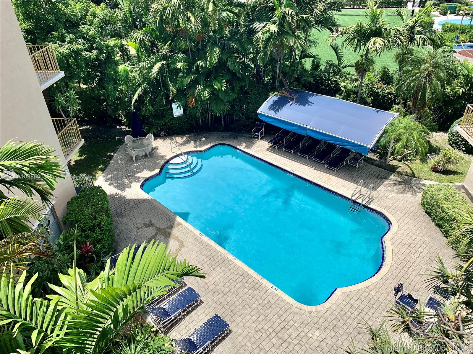 Beautiful & immaculate corner unit at The Club of Bay Harbor. The unit is a 1 bed + DEN/1.5 bath. Conveniently located on the same floor as the laundry room. Has an open balcony overlooking the gorgeous Bay Harbor Islands. Building has a pool, guest bathrooms next to the pool, BBQ area, a clubroom for residents to use, 1 assigned parking, 1 storage room, a lobby, & plenty of parking for additional cars & guests. The building has friendly neighbors & environment. Short walk to A rated schools, shopping, restaurants, & religious institutions. Highly sought after area. Currently rented at $1,450 a month to wonderful tenants month-to-month. They are willing to sign a lease if Buyer would like. 2 year rental restriction upon purchase but after that you can rent it once a year. Pets are welcome.
