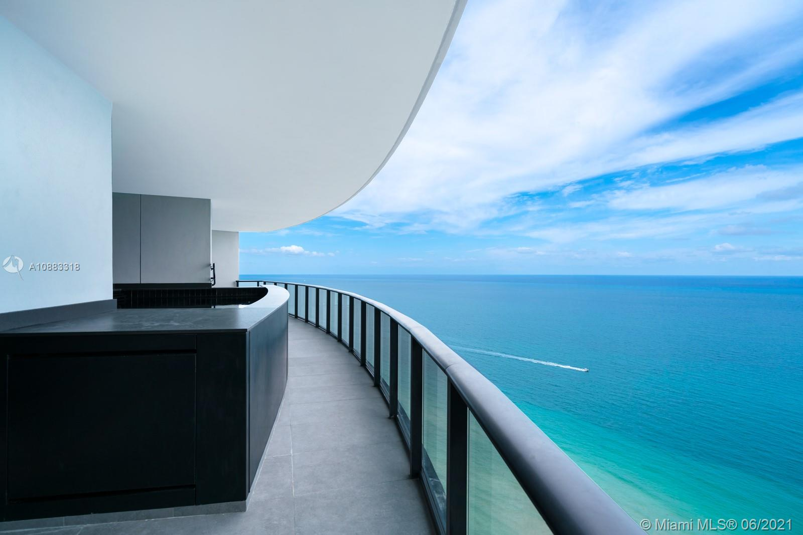 DRIVE YOUR CAR RIGHT INTO YOUR LIVING ROOM! This 3 bedroom apartment at Porsche Design Tower features a 2 car garage in the living room and a heated salt water pool/jacuzzi on the balcony. Enjoy living in the only building you can drive into your apartment with your car. Residence includes Miele appliances, private elevator, private restaurant with in room dining, building concierge, car concierge, full beach service, two pools, spa, car simulator, sports simulator, movie theatre, salon, and party room. Enjoy five star resort like living in one of the most technologically advanced, private, and secure building in the world!