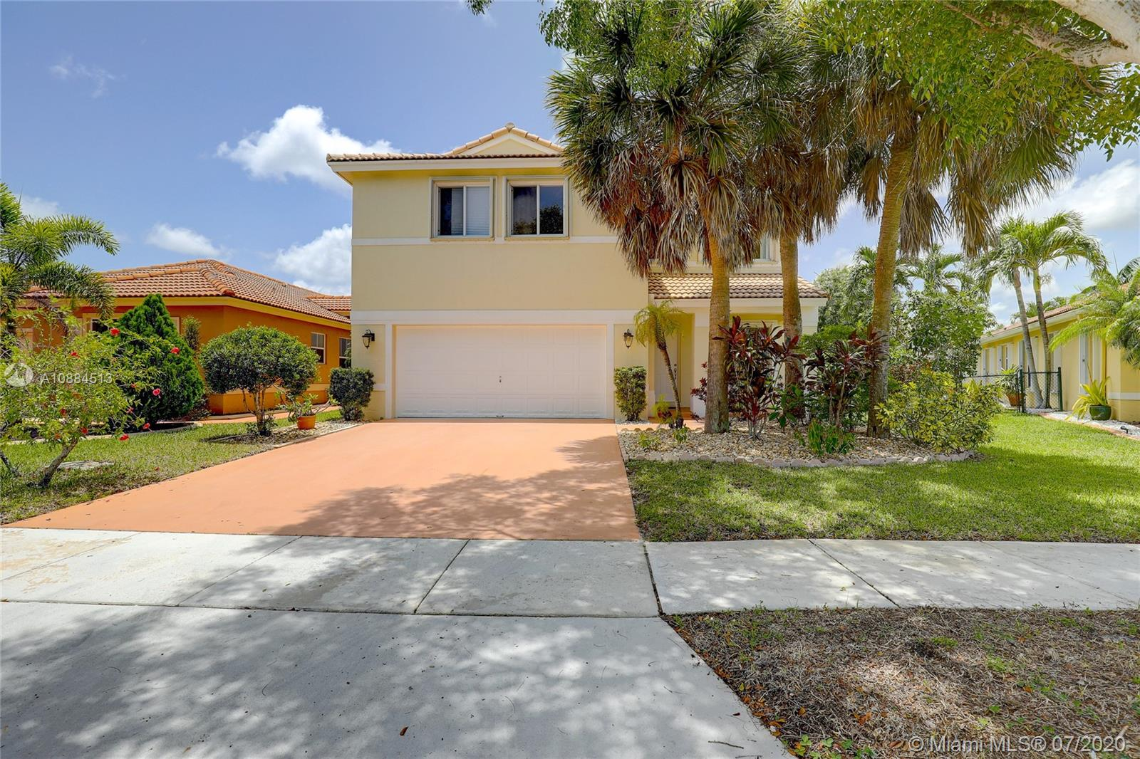 VERY BEAUTIFUL, VERY SPACIOUS, VERY WELL MAINTAINED AND VERY WELL PRICED SINGLE FAMILY HOME FEATURING 4 BEDROOMS AND 3 FULL BATHS LOCATED IN PEACEFUL WEST PEMBROKE PINES. THIS HOME FEATURES A NEWER KITCHEN, ENGINEERED WOOD ON THE SECOND FLOOR, NEW WATER PURIFICATION SYSTEM AND NEW AC IN 2019. SOARING CEILINGS IN THE LIVING AREA AND TONS OF NATURAL LIGHT THROUGHOUT COMPLIMENT THE MASSIVE MASTER SUITE. ONE SPARE BEDROOM AND FULL BATH ON THE GROUND FLOOR AND SPACIOUS LOFT OVERLOOKING THE LIVING ROOM ON THE TOP FLOOR.