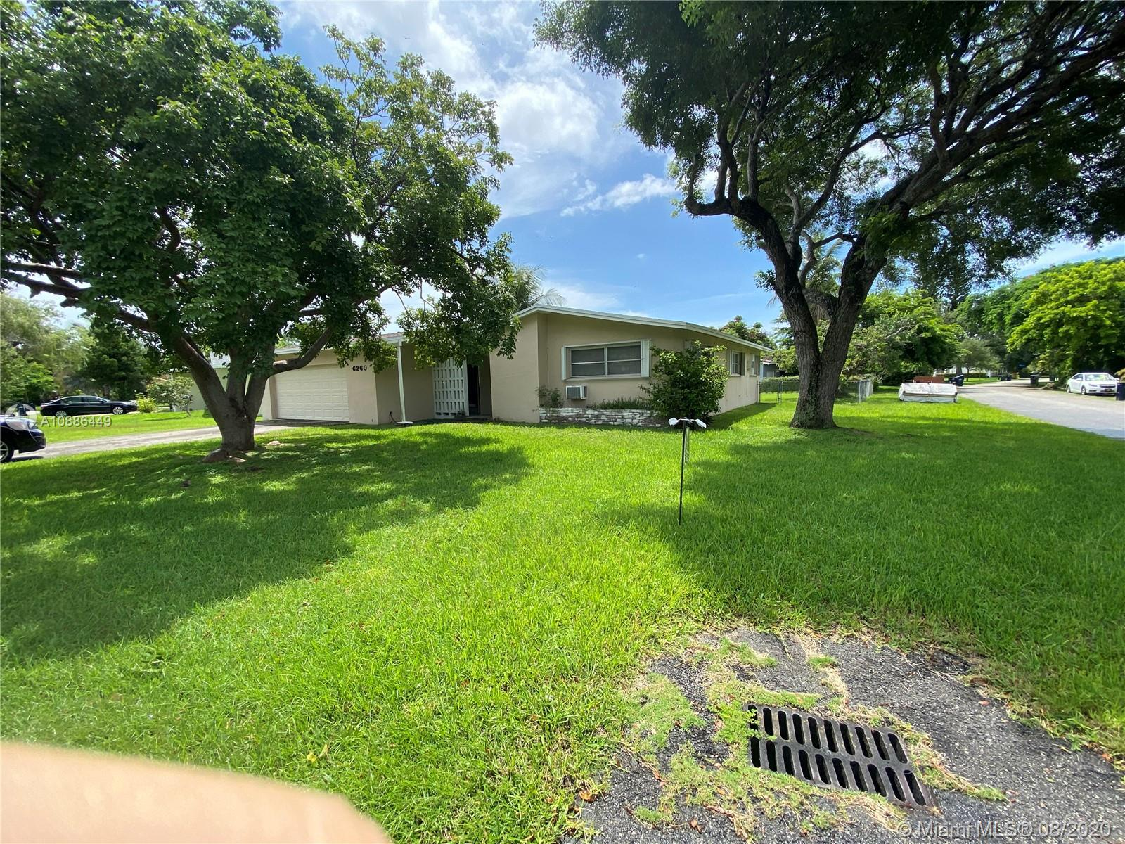 Incredible location in South Miami near University of Miami.   This South Miami home is a 3 bedroom 2 bath home with a separate 2 car garage, the home has 1700 sqft of living area on a 10K sqft lot.  OPPORTUNITY KNOCKS, great investment property.