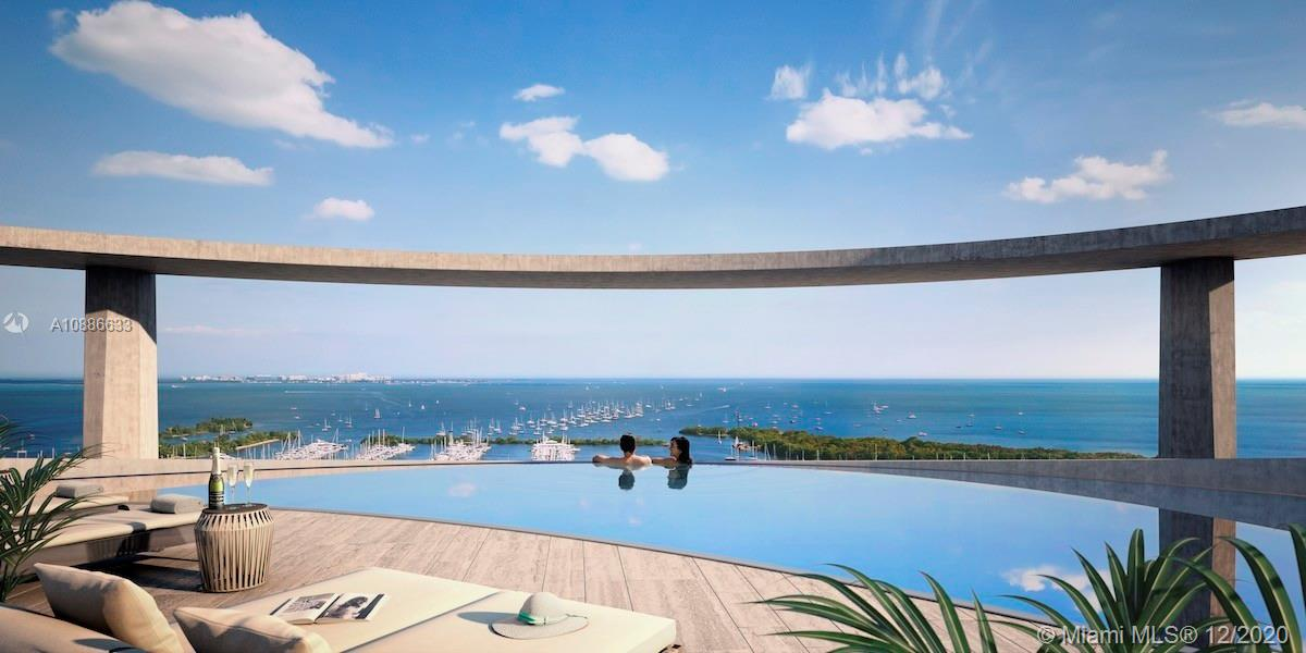 Stunning One Park Grove Front Tower! Direct Bay Views of Sailboat Bay and Biscayne Bay. Two Bedroom Two and a Half Bath plus Oversized Den/Third Bedroom Option. Expansive Balcony, 12 foot floor to ceiling sliding glass doors/windows. Bianco Laso Floors throughout and Seashell Stone in Master. Italian Cabinetry, Paonazzo Marble Countertops, Wolf Gas Stove, Subzero Refrigerator. Park Grove Offers 50,000 sq.ft of Amenities with Botanical Gardens and Lush Landscaping. 4 Pools, Jacuzzi, Cabanas. Signature Spa with Steam, Sauna and Massage rooms. 24hr Concierge, Business Center. One Park Grove has its own Private Exercise Room &Massage Room. Park Grove is a 5 Acre Serene Enclave within Beautiful Coconut Grove that offers Restaurants, Fresh Market, Marina, Parks, Shopping & so much more!