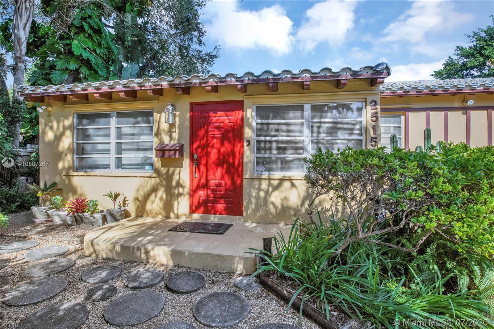 "Great Buy in a Million dollar neighborhood! North Coconut Grove home with large florida room, high ceilings and extra storage. Spacious backyard with a private deck and access from the large Primary bedroom. Close to Berries, Coral Bagels, Kennedy Park, Grove Village, Cocowalk, Biscayne Bay, Fresh Market, Downtown, Brickell, Key Biscayne,  University of Miami, excellent schools, and the Bay. Location and opportunity to own or rebuild existing structure in sought after North Grove neighborhood! No FLOOD ZONE-High elevation. No traffic from 27th Ave. LOT SIZE 80.000 X 93=7,440 SQ FT Contact Kathy for showings ""Buy land, they're not making it anymore."" Back up offers accepted"