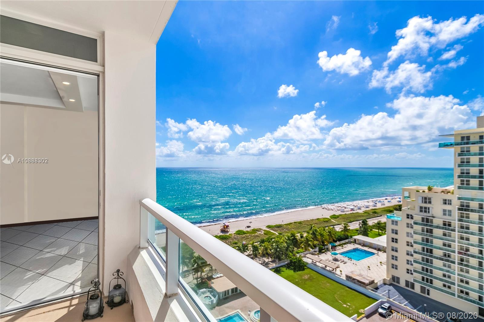 Live in a full-service renovated building by the sea in beautiful Miami Beach! Enjoy gorgeous SE ocean views from this large remodeled 2 bed / 2 bath lower penthouse level condo with balcony at the Carriage Club North, an iconic Miami Beach condominium that offers resort-style amenities: concierge services, valet, restaurant, pool, spa, BBQ area, fitness center & direct access to the beach & the new Miami Beach BeachWalk, a 10 M path from South Pointe Park to Bal Harbour. Unit 1517 features high ceilings, tile & oak floors, hurricane impact glass throughout, top of the line appliances, including Miele dishwasher & Monogram induction range. Yearly or semi-annual leases allowed. Theunit is unfurnished and offers 2 assigned parking spaces & a gorgeous balcony! NO Assessments! Move-in ready!