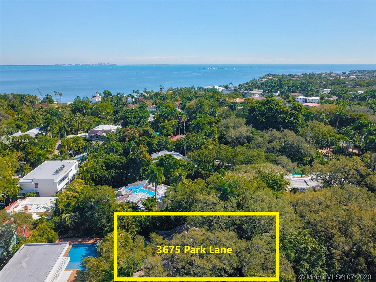 Incredible opportunity to purchase an oversized lot in South Coconut Grove on private street. Over 20,785 SF lot located on the high ridge above the flood zone but yet close to Biscayne Bay with riparian rights access via a seawall. Beautiful majestic oak trees and many trees to create complete privacy. Classical 1921 home that has been updated and expanded over the years featuring a large family room and formal dining. Move in as-is, renovate or build a new home. Plenty of room to build without impacting any trees. Walking distance to center Grove, schools, parks, churches and temple.