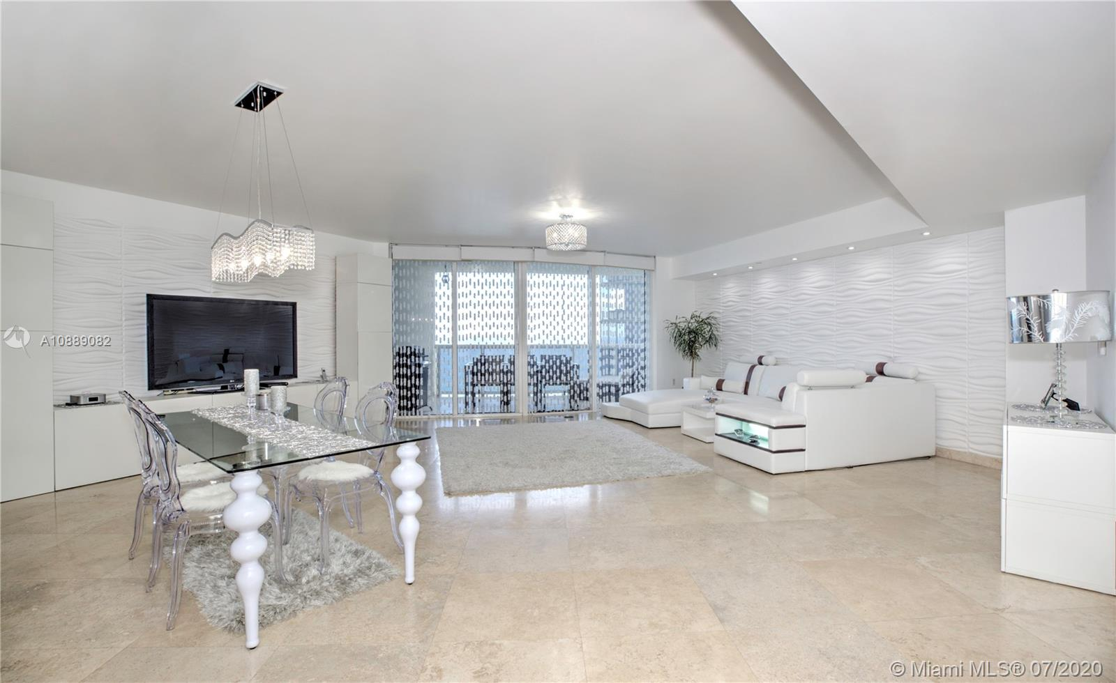 Beautiful 2bed 2.5 bath spacious unit overlooking the ocean and the intracoastal waters which you can enjoy from 2 large balconies. The building is located in the heart of Sunny Isles Beach and it is close to Bal Harbour Shops, Aventura Mall, Turnberry Golf Course, waterpark, restaurants, schools and more. You can also enjoy a lot of great amenities the building is offering such as the newly renovated pool, jacuzzi, beach service, gym, spa, on-site restaurant with room service, dog walk, mini golf, valet and more. The unit also comes with 1 assigned parking space. Owner is also willing to sell the furniture for $10,000. To see this property, please contact listing agent.