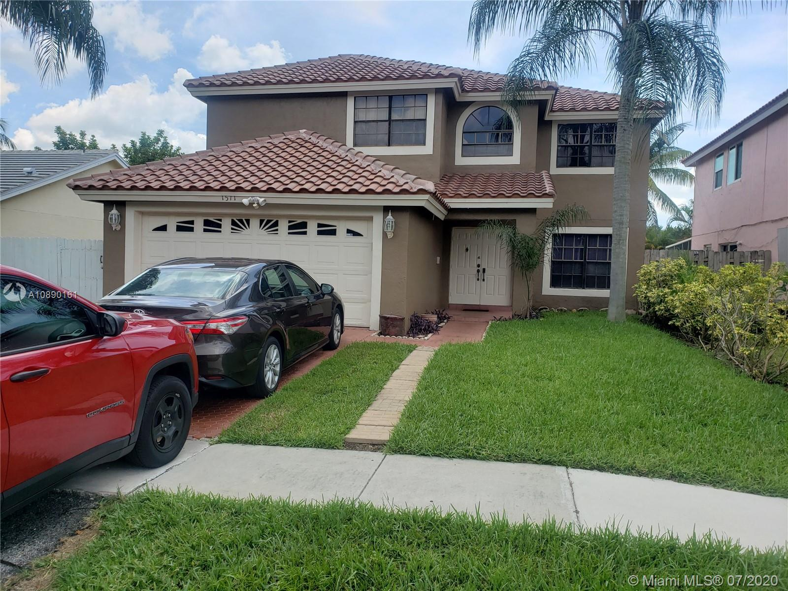 This beautiful 2 story 4 Bedroom 2 Bathroom home sits in the heart of Pembroke Pines.  This spacious beauty is ready for a new family.  Looking for space, look no further.  NEW ROOF, LOW TAXES, and LOW HOMEOWNERS ASSOCIATION FEES with great amenities (community pools, parks, etc).  Exceptional living at an affordable price.  Enjoy your beautiful and serene back yard located close to major schools, shopping, and highways.  This one won't last!  Make an offer...Show and sell!  ***Showings will begin on Monday from 4-6***