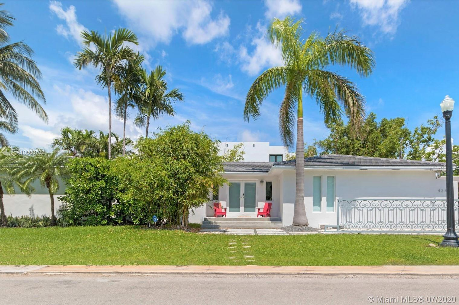 Fabulous, flawless & completely renovated home on Di Lido Island, Miami Beach. This spectacular 2,443 SF home has been remodeled with attention to every detail and features 4 BR/3.5 BA, a spacious open floor plan, impact windows and doors, updated roof, and beautiful art deco details throughout. Amazing & large master suite with walk-in closet and a bonus room/office on the side of the master bedroom. Open & light filled living areas lead out to the homes gorgeous & private backyard. Conveniently located on Venetian Islands, between Downtown Miami & South Beach & a short bike ride away from Lincoln Road & Sunset Harbour.