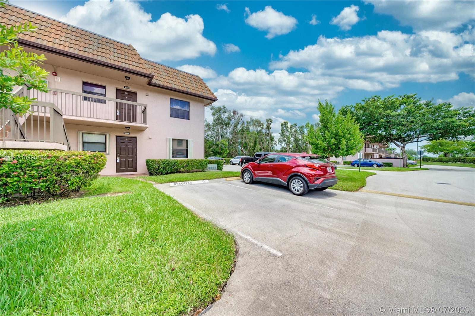 Great updated 2 bed /2 bath first-floor corner unit in beautiful Fairview at Pembroke Pointe. Amenities include pool, tennis, car-wash area. Screened patio with storage, accordion shutters, Washer/Dryer, kitchen features newer stainless appliances. One assigned parking place in front of unit and tons of guest parking. Can be rented right away.