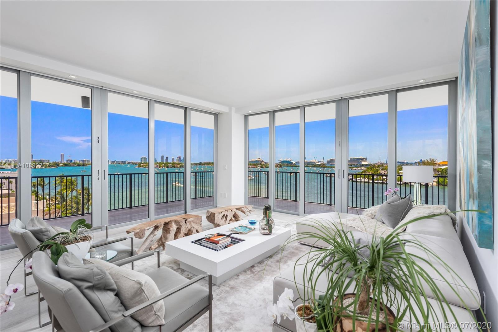 Spectacular totally renovated waterfront residence at the incredible 1000 Venetian. Simply stunning , this home is a design marvel. Double entry doors welcome you into this pristine minimalist residence featuring endless bay, skyline views of Downtown, cruise ships & Miami Beach from 3 ample terrace. High-end finishes & fixtures, all new floors inside and out, new impact glass throughout, so just move in! Customized for those seeking the finest upgrades, the atmosphere is further enhanced by a spacious open floor-plan that includes vast spaces, floor-to-ceiling new IMPACT glass, chef's eat-in kitchen w/ professional appliance suite & oversized Master & remarkable spa-like bath w/ huge shower.. One of the best buildings in Miami, outstanding location & fabulous amenities! World-class views!