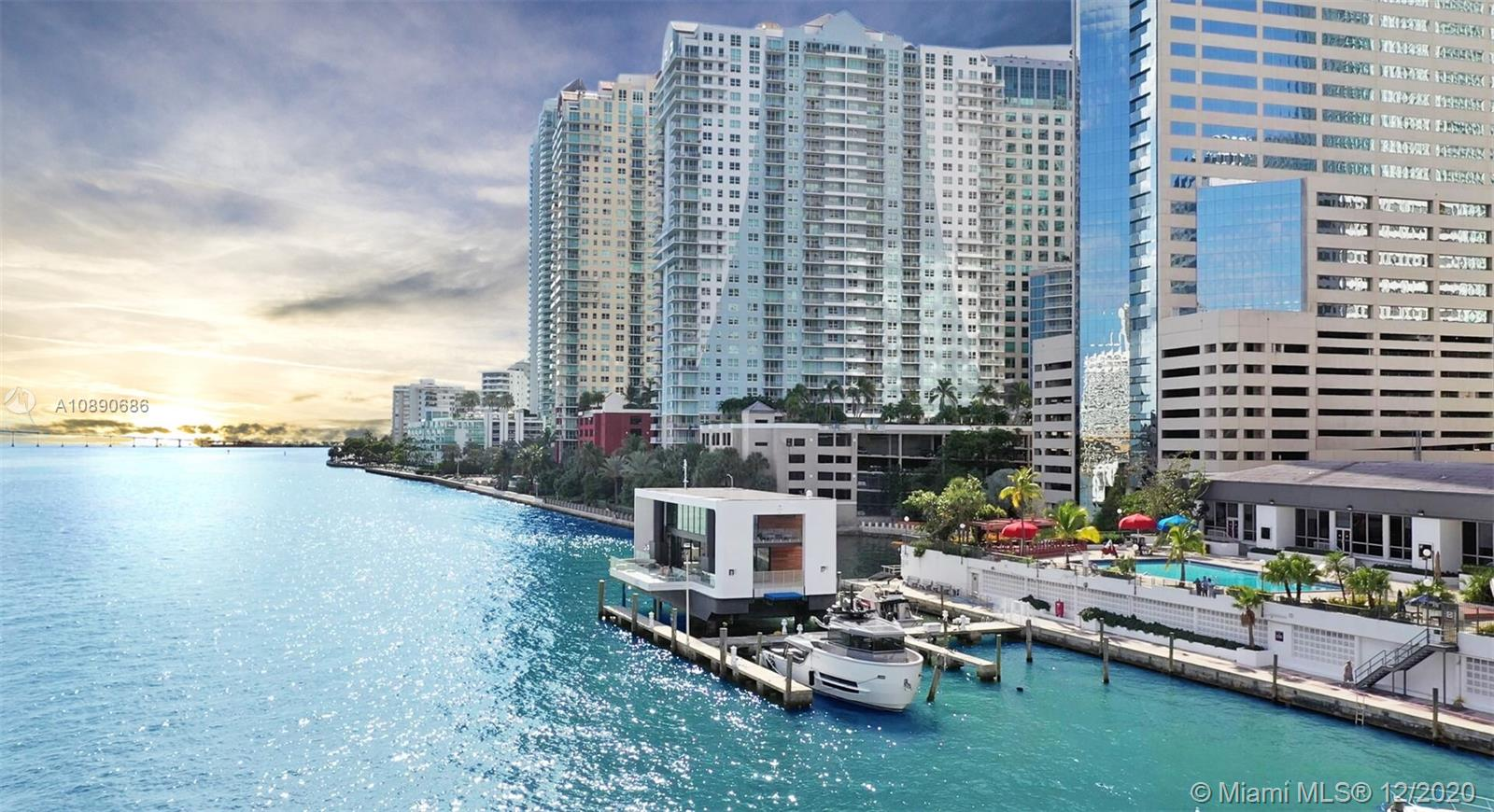 Immaculate mansion on the water in Brickell! Located at the lavish Vice City Marina outside world-famous Brickell Key & just steps from Miami's 5-star dining & nightlife, this is the only property of its kind. A blend between a modern Miami mansion and a mega-yacht, the Arkup allows you to live on the water and bask in everything Miami has to offer without paying property taxes, condo dues, an electric bill or a water bill. Sporting 4,350 square ft of perfectly curated indoor & outdoor space & built on retractable legs that elevate the mansion out of the water or cruise like a yacht to any of Miami's hot spots, the Arkup is absolutely unmatched for wow-factor, luxury, privacy & convenience. Amazing for an end-user, as a second home or as a lucrative investment with no rental restrictions.