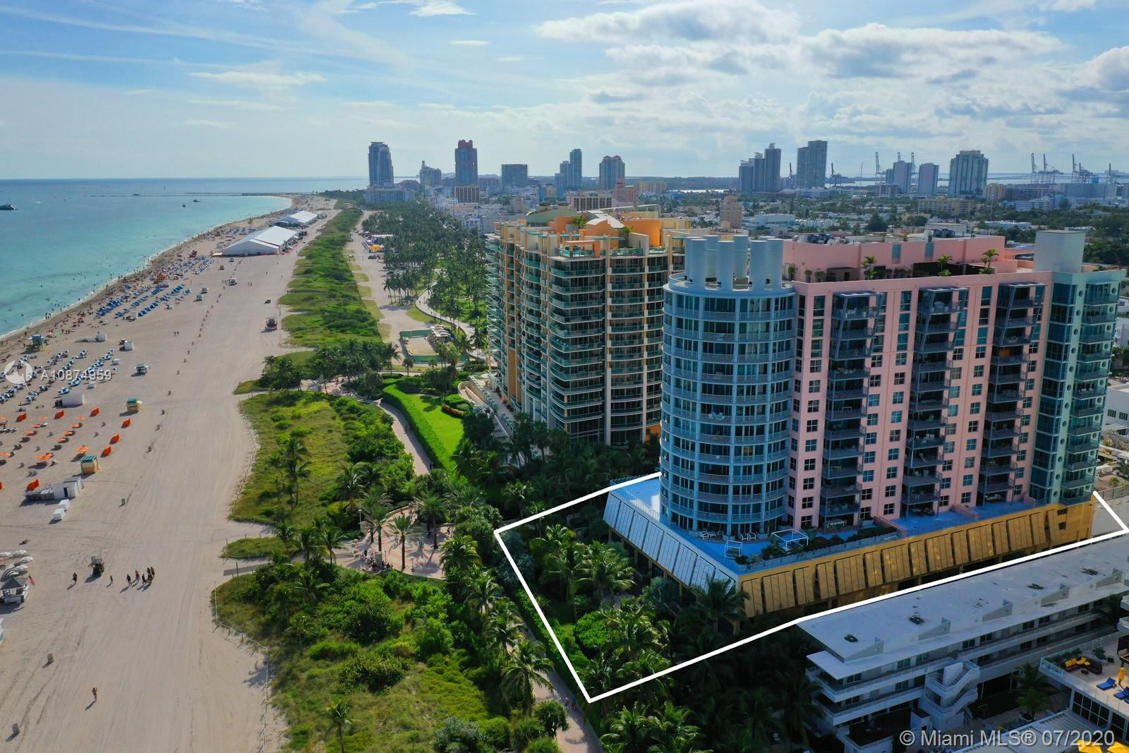 Wow!!! That's what you are going to say when you walk into this 1,740 Sq Ft South facing PH. The view will draw you out to your usable 11 X 19 terrace giving you views of the Ocean and downtown Miami. The sunrises and sunsets are memorable. The building was designed by world renowned architect Michael Graves as a 3 bedroom but was converted to 2 bed 3 baths giving you a large living/dining rm. This apartment is delivered tastefully furnished with an upscale beach feel. You have marble floors throughout, a renovated open kitchen with a breakfast bar, entry foyer, laundry rm and walk in closet. All this and the perfect location. On ocean Dr, walking distance to Lincoln Rd, world class shopping and restaurants. Call to make an appt if your looking for the PH lifestyle.