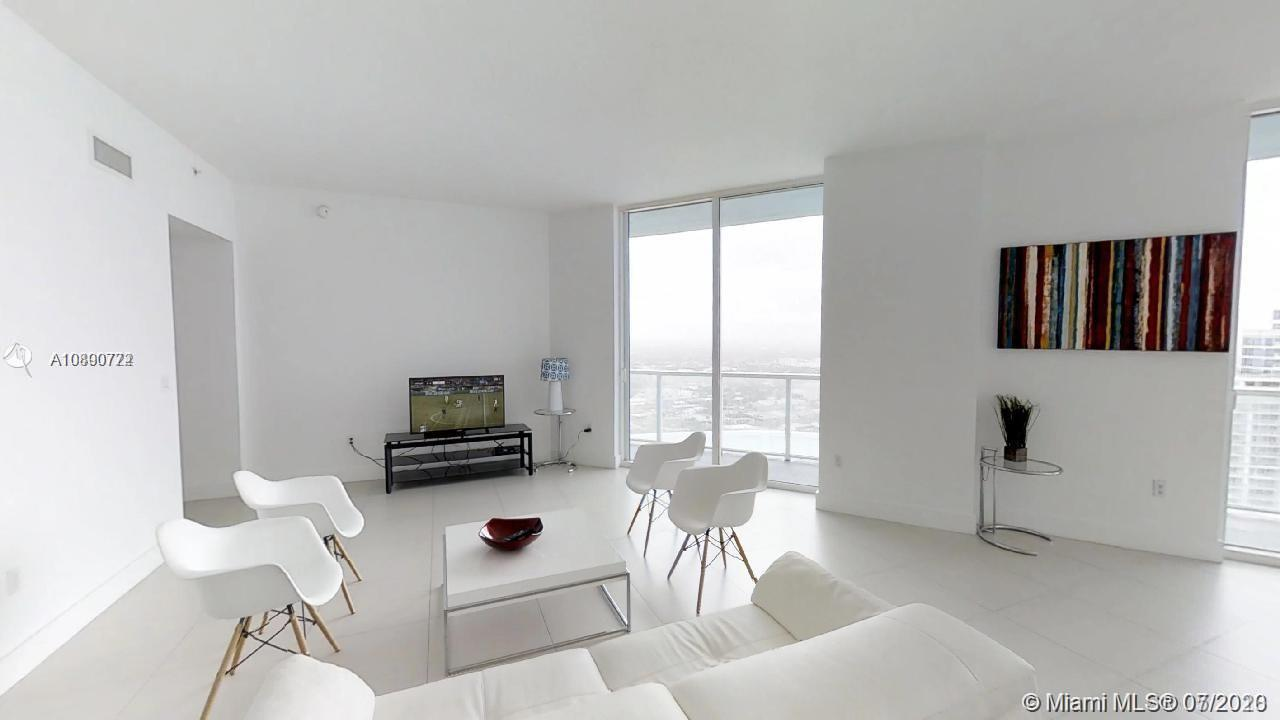 ***Beautiful corner Penthouse at the Quantum On The Bay, in the heart of Edgewater***Unique layout with two balconies and completely separated sleeping quarters***Large living area with a balcony spanning the length of the condo and views of Biscayne Bay and City***Three bedrooms, all with walk-in closets***The primary bedroom has a private balcony, offering spectacular views of the ocean and the City***Two parking spaces, one right off the lobby***Walking distance to Downtown Miami and Wynwood***This luxurious Penthouse comes tastefully furnished*** Best deal in town!***