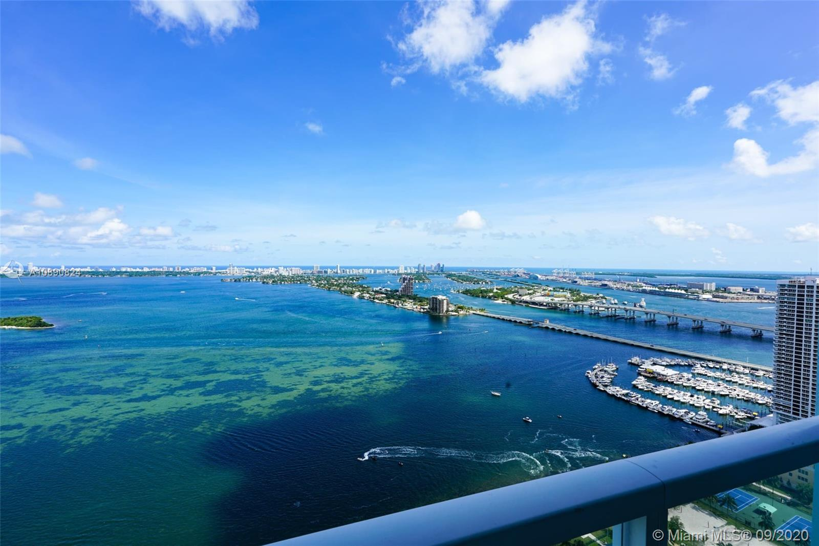 Completely painted & remodeled spacious two-bedroom, two -½ -bathroom condo. Quantum on the Bay offering 180º view of Biscayne Bay from a large balcony and all bedrooms. Only the kitchen has a tiled floor, and the rest of the apartment has wood floors. Modern kitchen with stainless steel appliances. The unit contains a Washer & Dryer. Building offers first-class amenities such as 2 swimming pools, gym, business center, convenience store, movie theater, club room, Spinning room and valet. Rent includes basic cable, water & internet.