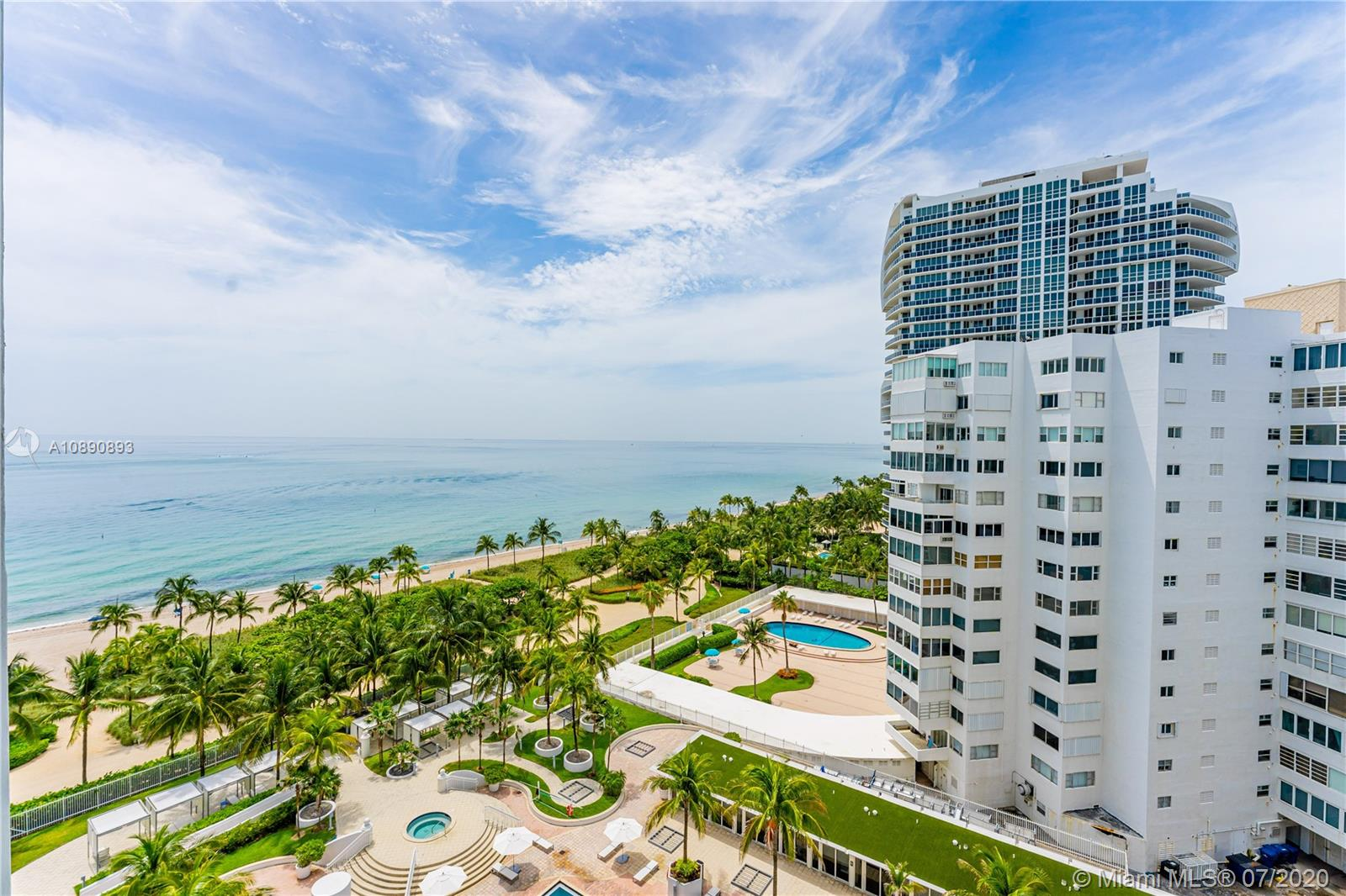 """OCEAN VIEWS FROM YOUR BALCONY !! PERFECT OPPORTUNITY TO OWN A PIECE OF PARADISE WITH THE BEACH AND OCEAN AT YOUR FRONT DOOR ! BEAUTIFUL BOARDWALK ALONG THE BEACH TO CATCH THE EARLY MORNING SUNRISE AND WALKING DISTANCE TO THE RENOWNED """" BAL HARBOUR SHOPS """" ACCUSTOM FOR ITS HIGH END RETAIL AND CELEBRITY SIGHTINGS ! HARBOUR HOUSE IS A LUXURY CONDO BUILDING NEXT TO THE RITZ CARLTON WHICH COMES WITH ITS VERY OWN """" PRIVATE BEACH CLUB AND NEWLY DESIGNED FULL SERVICE SPA AND GYM""""  , 24 HOUR CONCIERGE/VALET SERVICES , GROCERY STORE , CAFE SERVICES AND MOVIE THEATER ! THIS CAN BE YOUR PRIMARY OR VACATION HOME IF YOU LIKE . BUILDING IS PET FRIENDLY AND ALLOWS YOU TO RENT A MINIMUM OF 6 MONTHS AT A TIME ! SCHEDULE A VIEWING TODAY AND MAKE BAL HARBOUR YOUR NEXT DESTINATION !"""
