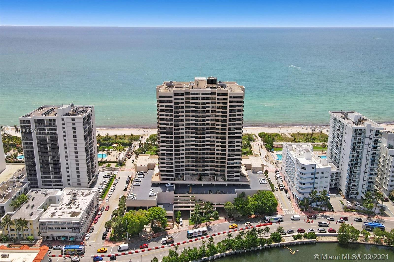 Great opportunity to own a 2/2 spacious & bright  unit with direct Ocean Views in a very convenient  location steps to Shops, Restaurants, Lincoln Rd, Faena District & Boardwalk behind Bldg. plus minutes to SOBE.  Building offers 24hr. Security, Concierge, Rec.  Room, Sauna, Gym and a convenient Deli on premises. Hallways almost done with upgrades. Enjoy Florida Living wit the Beach as your backyard.Unit move in ready.