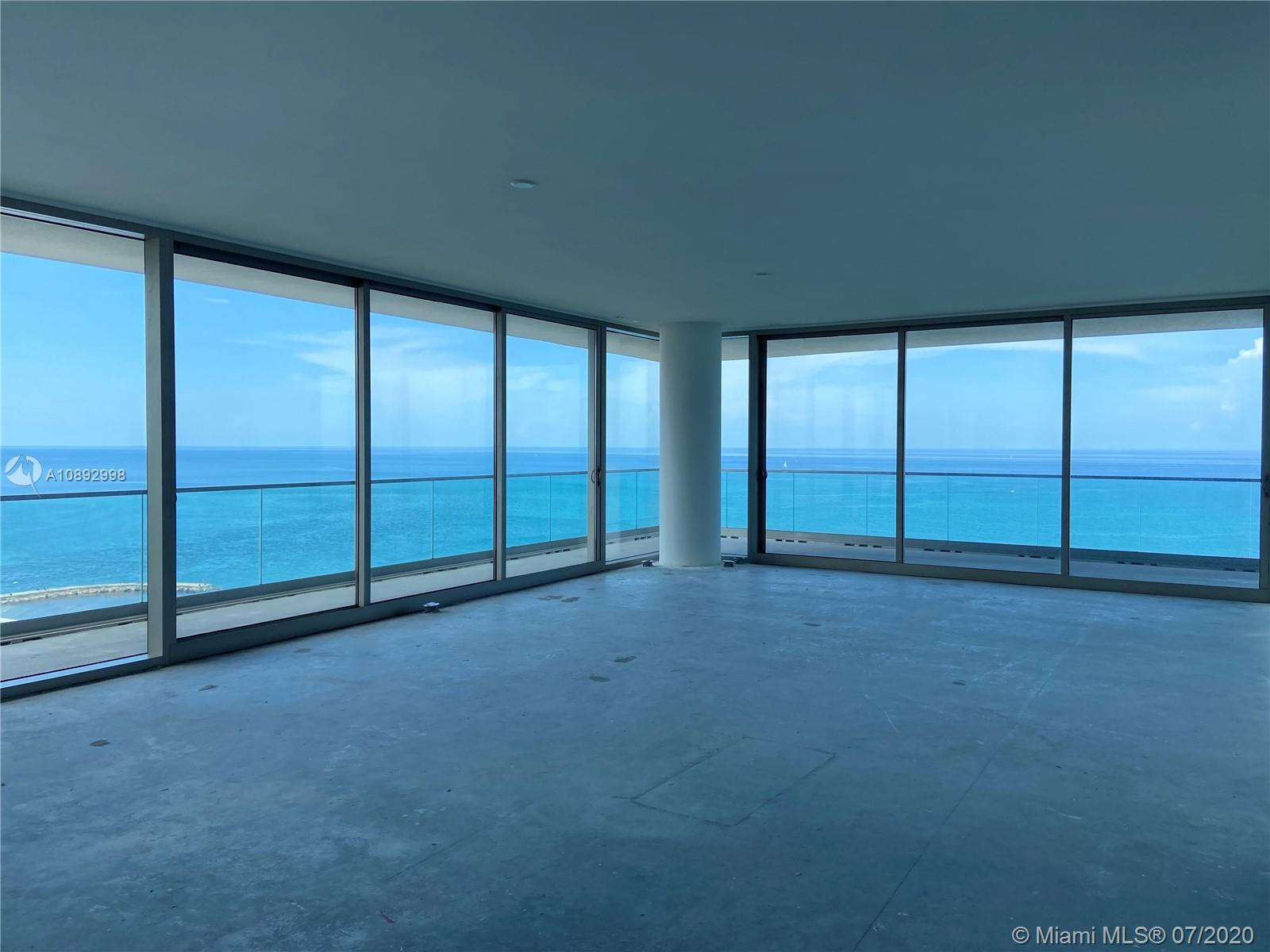 AMAZING MODEL UNIT completely turn key @ OCEANA BAL HARBOUR: Worth to see and show! The most beautiful in Oceana. Big corner unit and flow-through units with unobstructed views to Ocean and Bay. Amazing wrap around terrace of about 1,600 SF on top to the 4,185 SF under AC. Fully finished and furnished as model unit for Oceana (furniture is optional and additional). 3 bedrooms, 4 baths, family Den and much more. Marble and wood floors, Dada Kitchens with Golden Calacatta, Gaggenau appliances and exquisitely finished and decorated . Turn Key unit, in the hart of Bal Harbour, the most exclusive and valued area in Miami. A MUST SEE!!