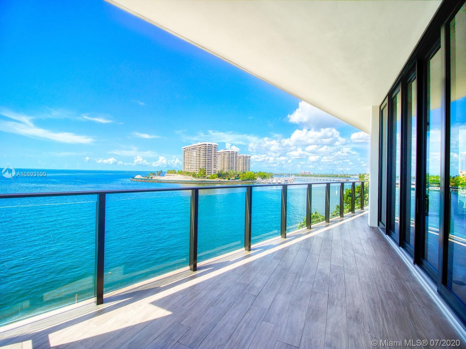 """Welcome to your home oasis! Nestled on a rare waterfront site, The Fairchild Coconut Grove is a Boutique building and architectural masterpiece with 26 residences designed by world renowned and Acclaimed Architect, Max Strang in collaboration with celebrated interior designer, Rafael de Cardenas. This is the only available three bedroom unit in the highly coveted """"Beasley"""" line. You will step out of your private elevator foyer and into a world of moving walls of glass, natural stone flooring, 11' ceilings and a private 760 sqft wrap-around terrace with access points from each room and includes a private outdoor shower overlooking the bay. With 3206 sqft of total living space, this spectacular home offers 3BR's/4.5BA's + service quarters."""