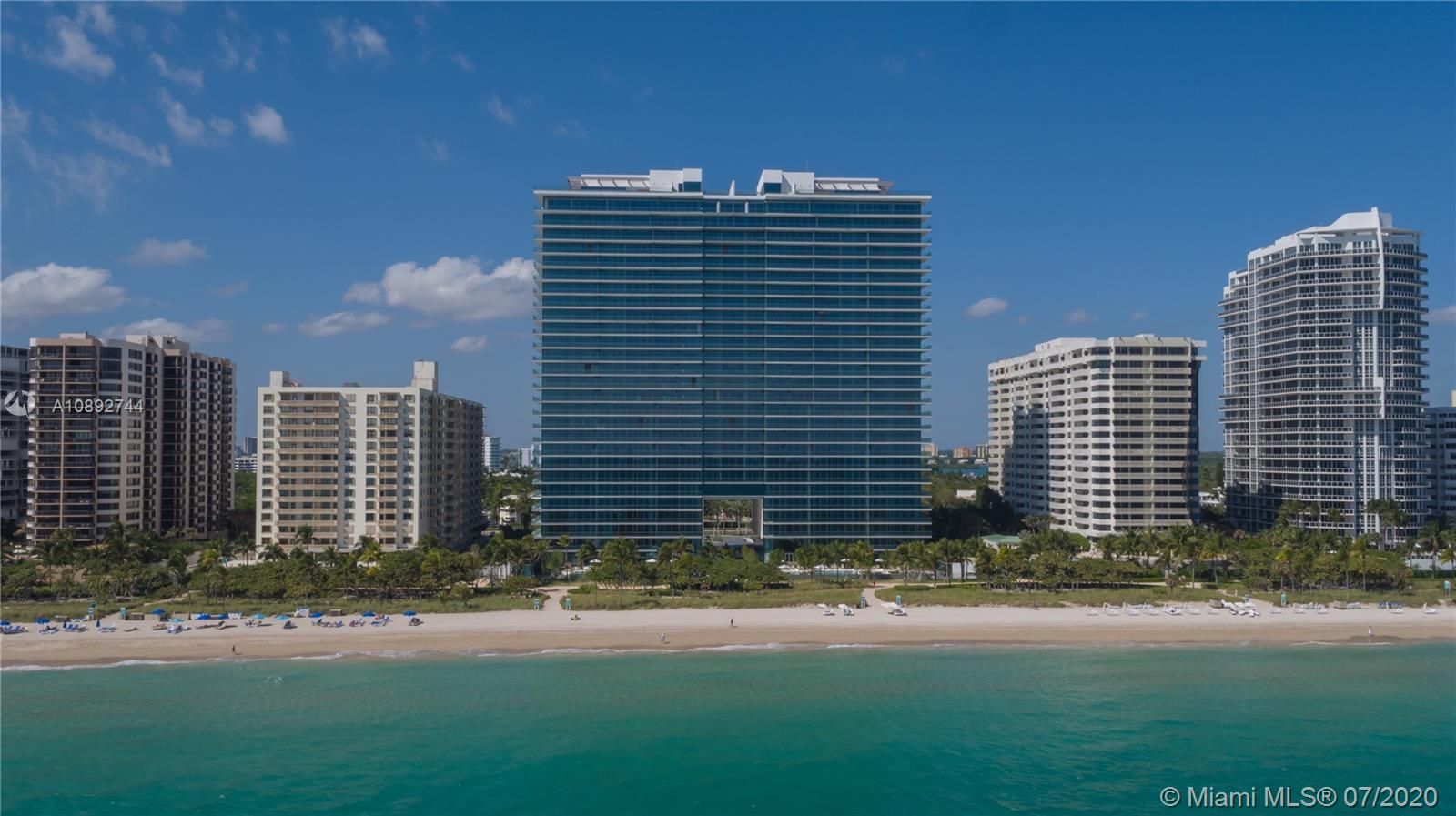 Oceana Bal Harbour - One of the most beautiful and elegant buildings in the Miami area with a very unique breathtaking art collection. Interiors designed by Piero Lissoni and landscape by Enzo Enea.  5-stars amenities with two concierges, spa, pet spa, restaurant, cinema, volleyball, two tennis court professional in clay, two pools, jacuzzis, beach service, pool service.  Amazing SE corner unit with 800SF balcony. This unit has  2 bedrooms + 2 full baths and a powder room. Very spacious kitchen with Calacata marble throughout. Gaggenau top of the line appliances. Finished unit with electrical blackouts and shades.