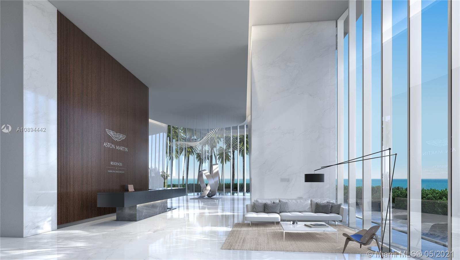 Your home in the sky. Construction is well underway. Aston Martin's first exclusively branded residential high rise with an estimated delivery in 2022. In this first exclusive development partnership with Aston Martin, the interiors are inspired by the brand's 105 year history, DNA and esthetic through subtle details and craftsmanship while taking into consideration Miami's tropical and exciting environment. The residential only tower will be over 800' as the tallest condominium tower south of NYC with 391 units, over 42,000 sq ft of sky amenities and timeless finishes. EXCEPTIONAL OPPORTUNITY...85% SELLER FINANCING AVAILABLE.