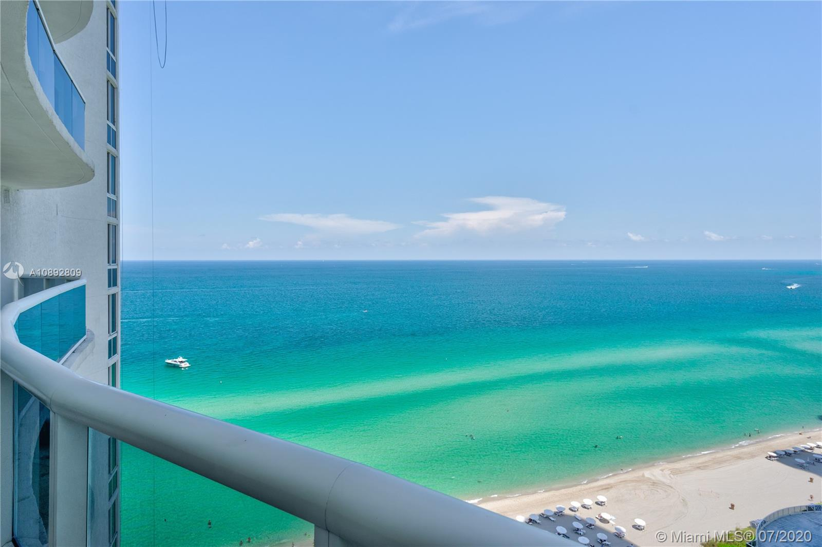 Luxury beachfront apartment on the 17th Floor of the The Trump Tower 1. Two bedrooms with private bathrooms plus one closed den with private bathroom. Completely remodeled unit. Open Kitchen with extra custom-made counter with wine cellar and minibar. White cabinets and new sinks. New top of the line appliances. Marble floor throughout. High ceiling. Large balcony overlooking the ocean. Recently painted. Beach Service with chairs, towels, umbrellas and restaurant. Great amenities. Pool, Fitness center and Spa, billiard room, Sauna, 24 hrs valet parking, concierge services.
